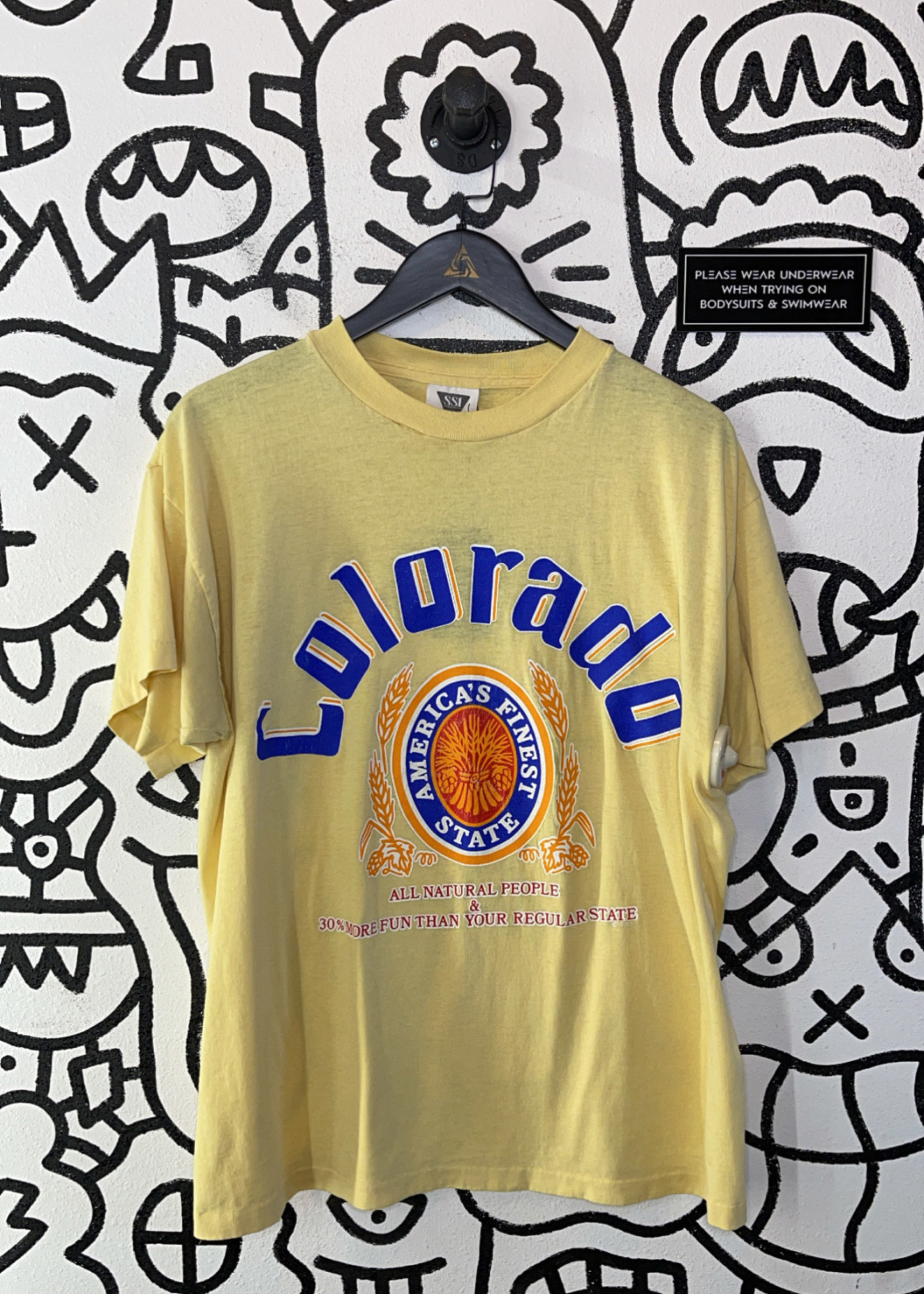 Vintage Yellow Colorado T Shirt XL
