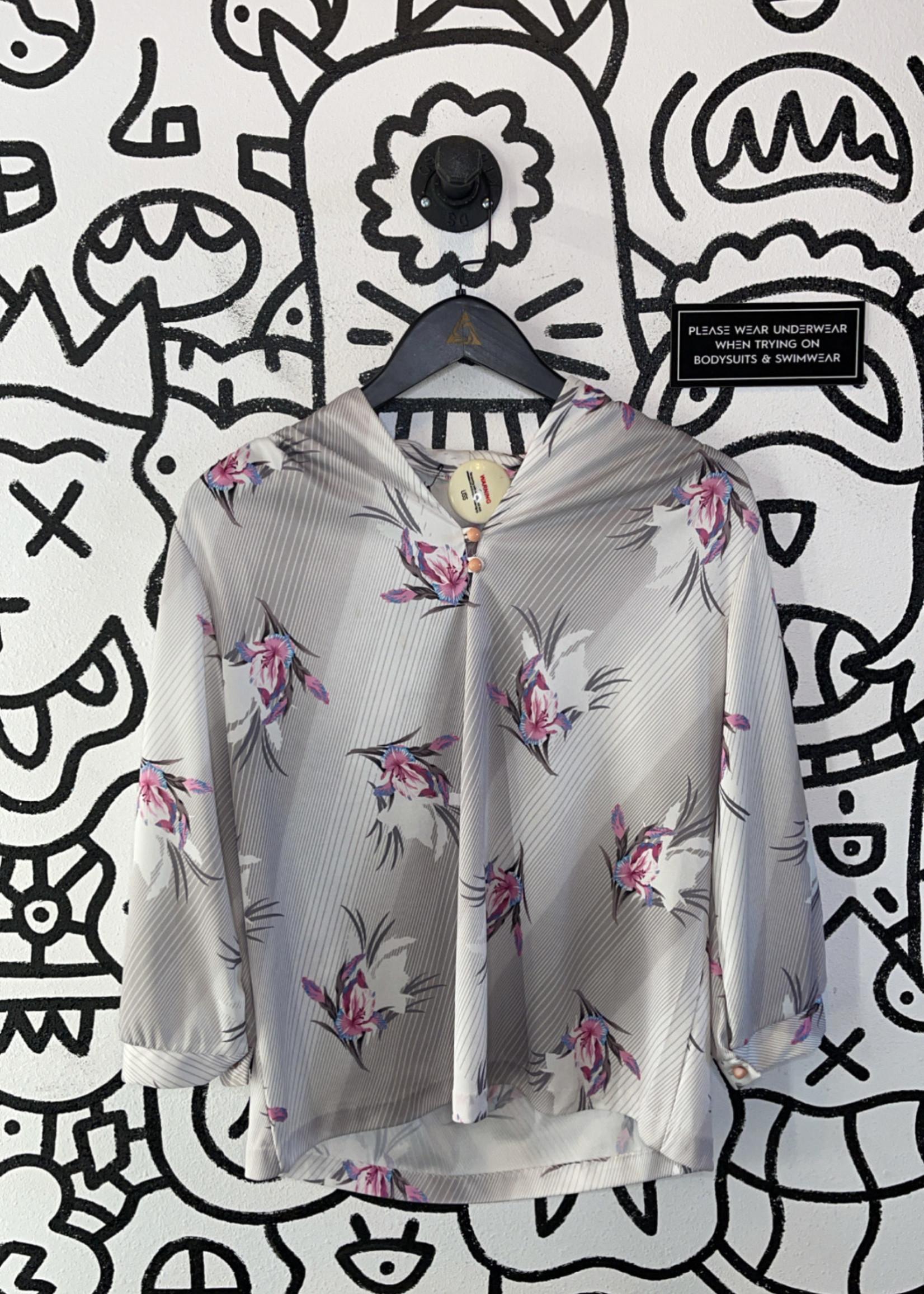 Vintage striped orchard blouse M