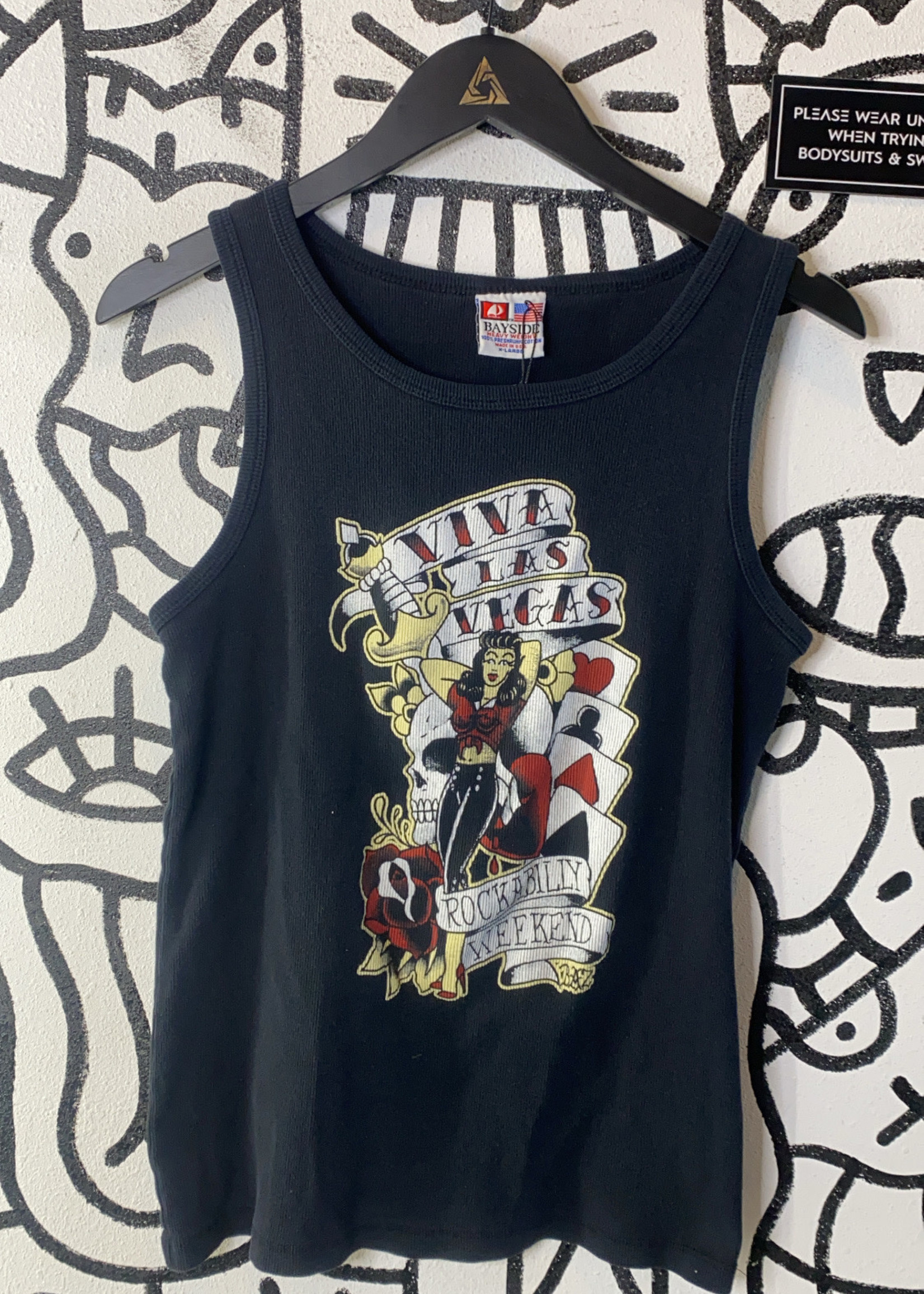 Vintage Viva Las Vegas Black Tank XL