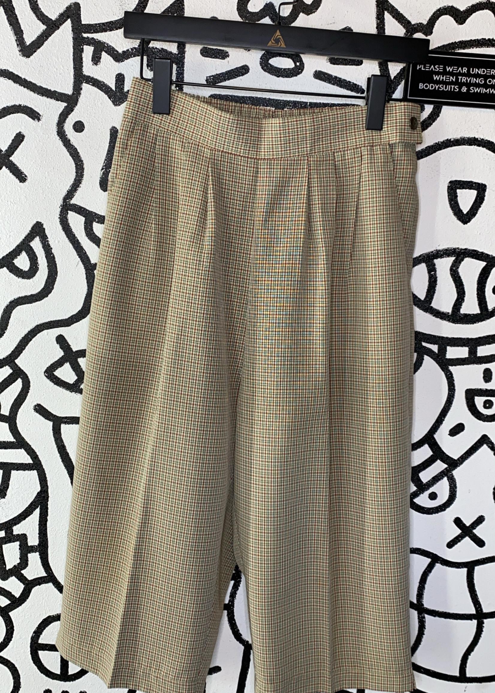 "Vintage big top plaid low trousers 28"""