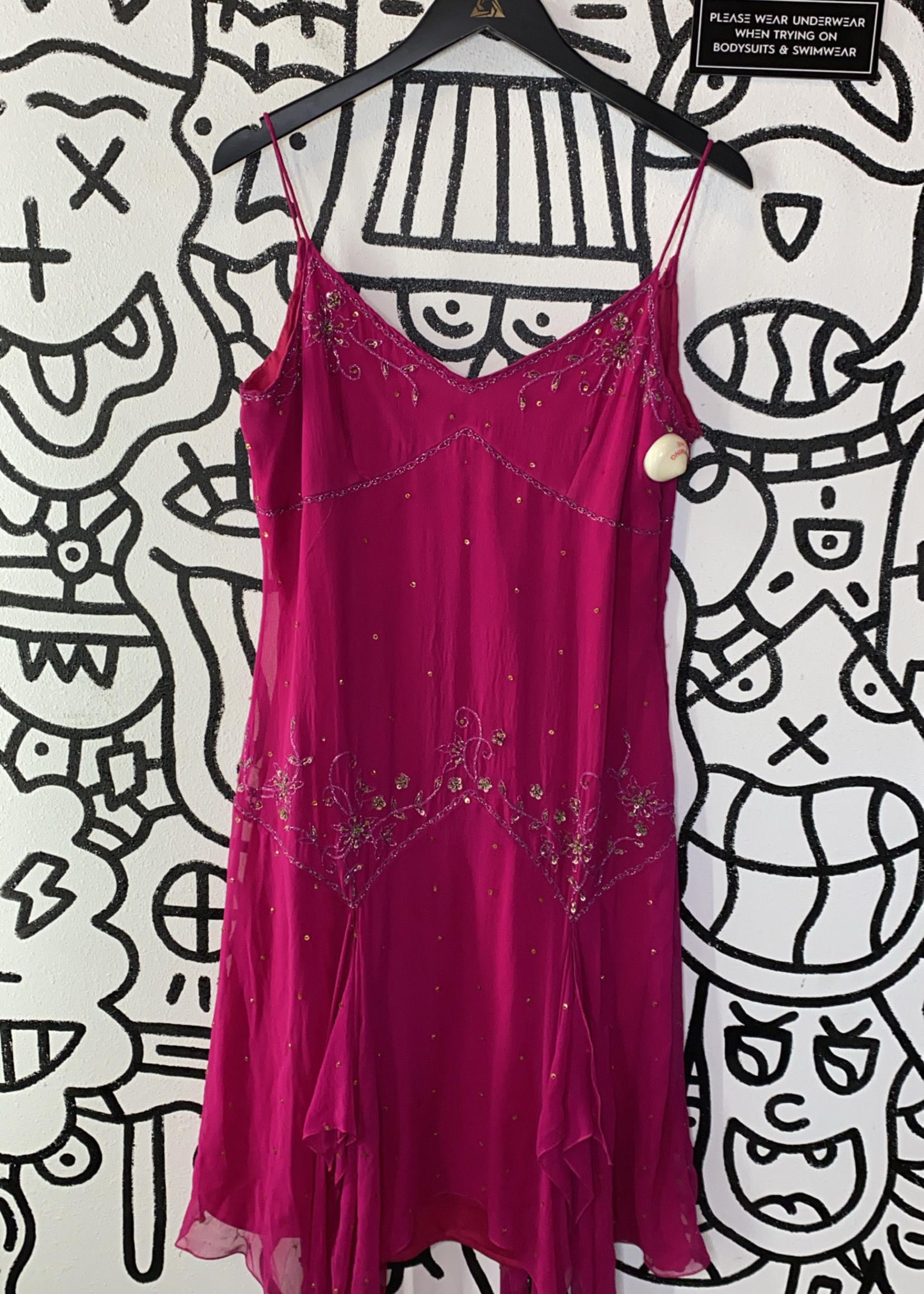 Stenay Vintage Hot Pink Embellished Dress 14 L