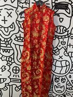 ADH Red Silky Kimono Dress S