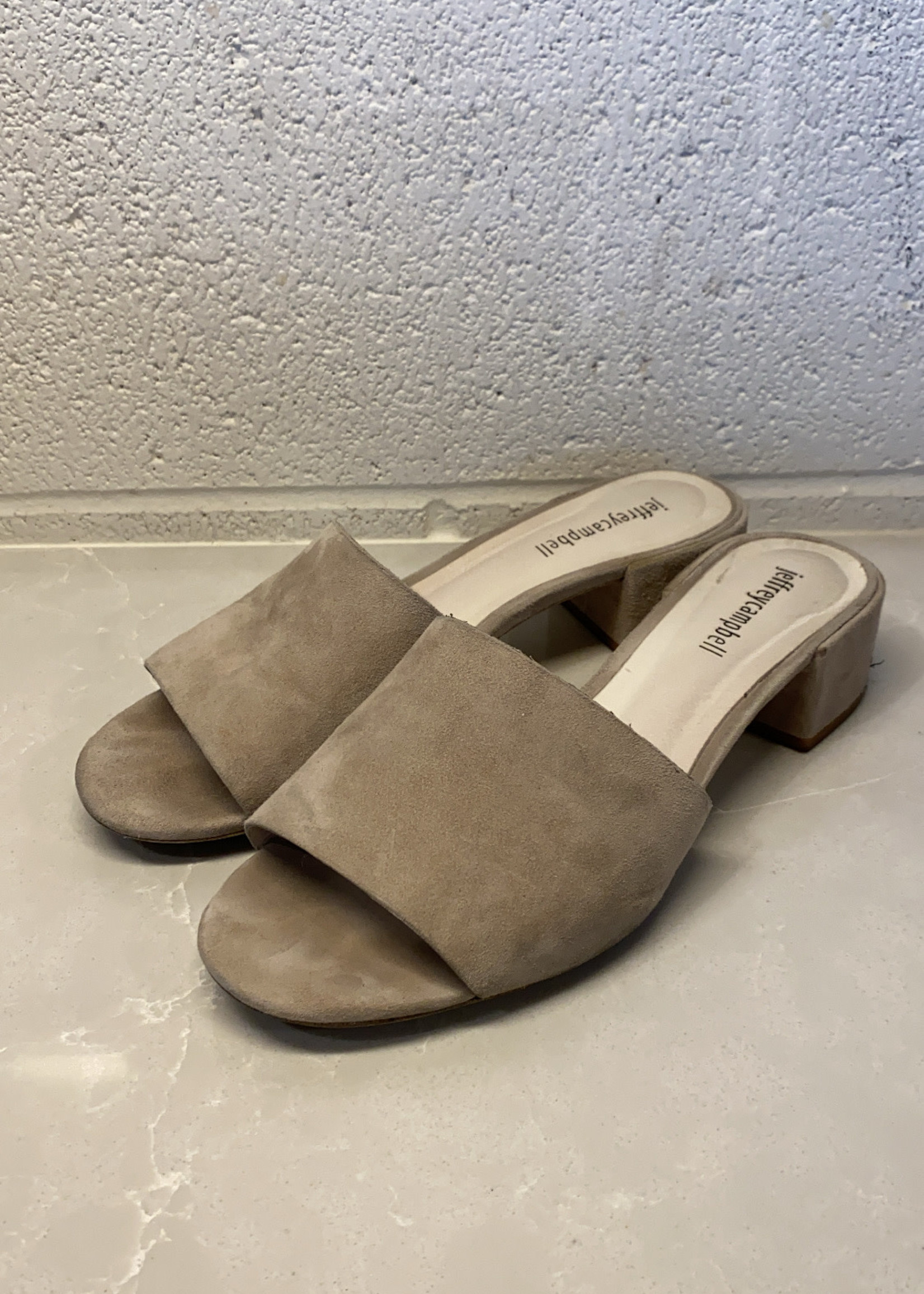 Jeffrey Campbell grey low heel sandal 8.5