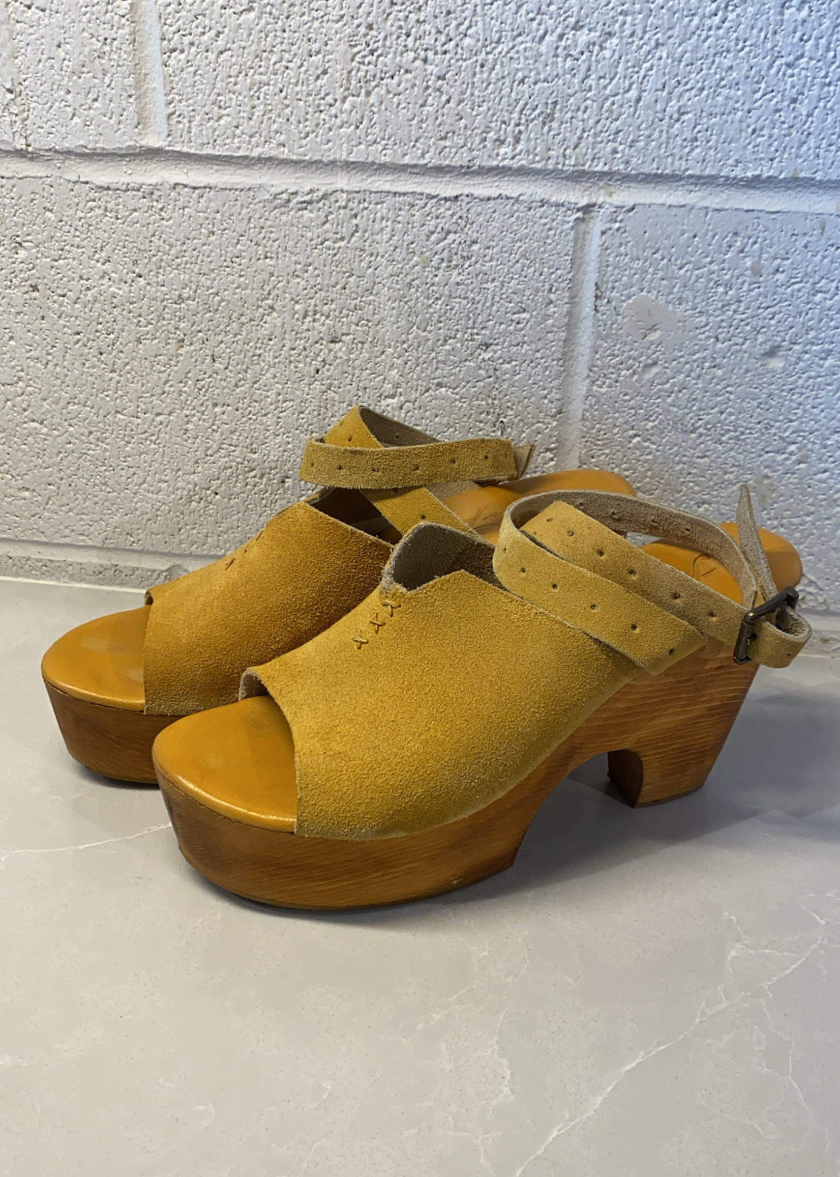 Free People suede clog platform sandals 39