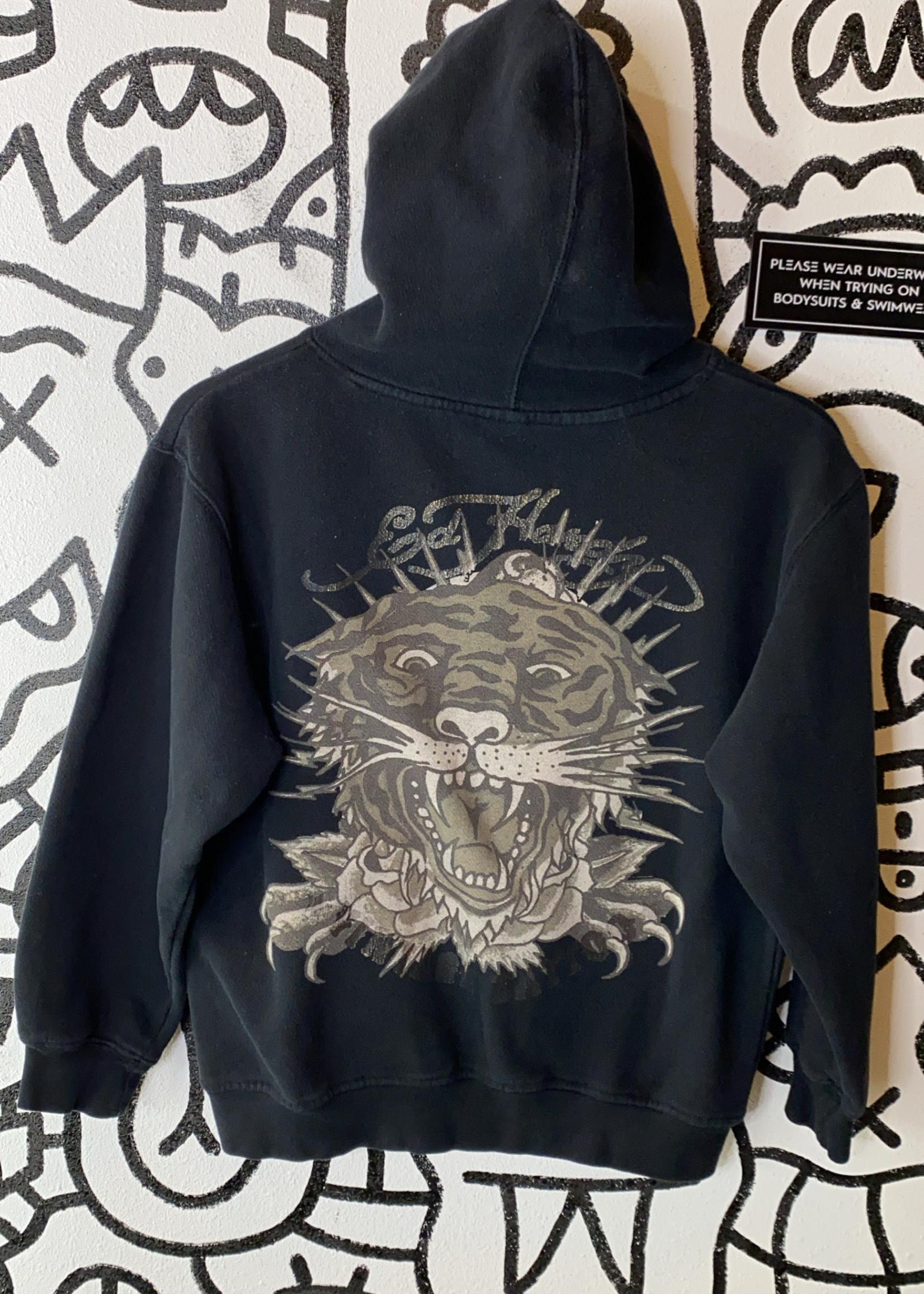Ed Hardy Black Tiger Graphic Hoodie XS