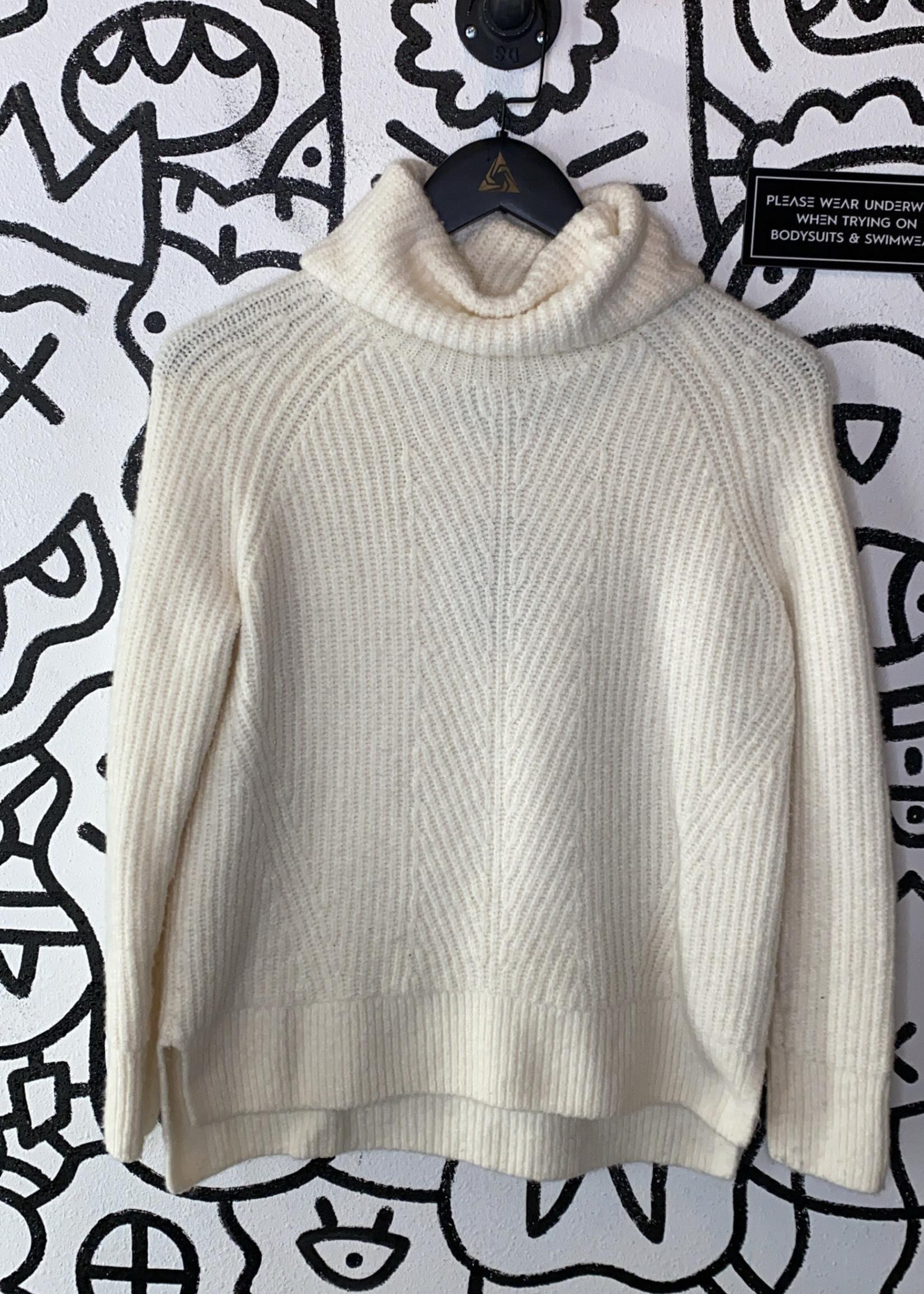Madewell White Turtleneck Sweater XS
