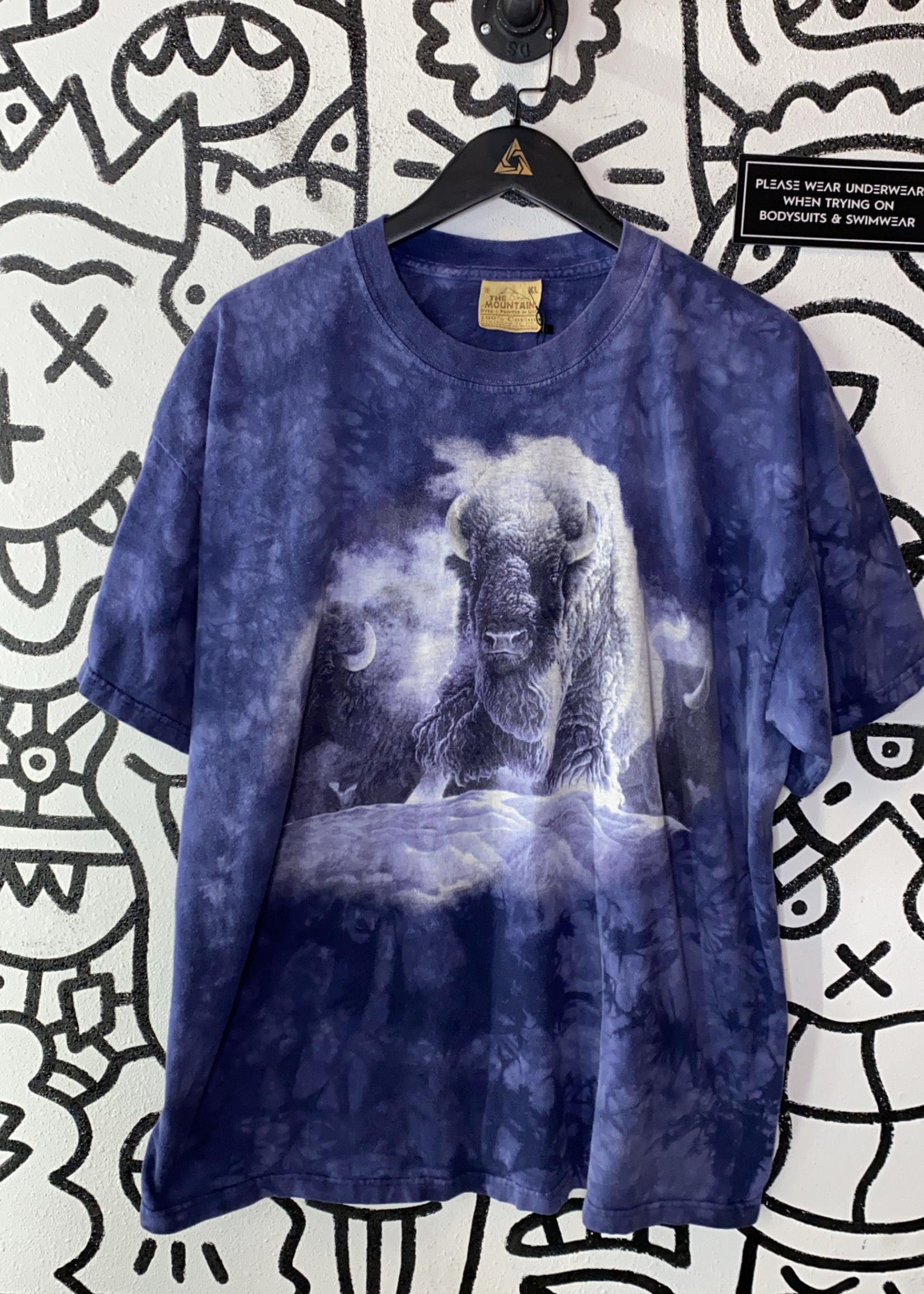 The Mountain Buffalo Blue Tie Dye Tee XL