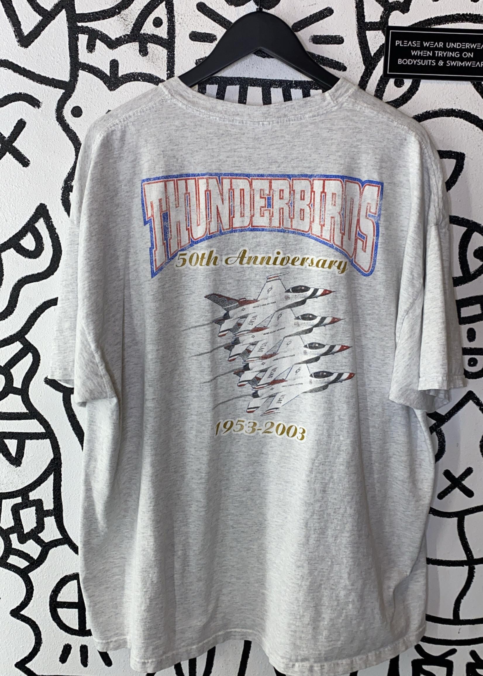 Thunderbirds 50th Anniversary Faded Grey Tee XXL