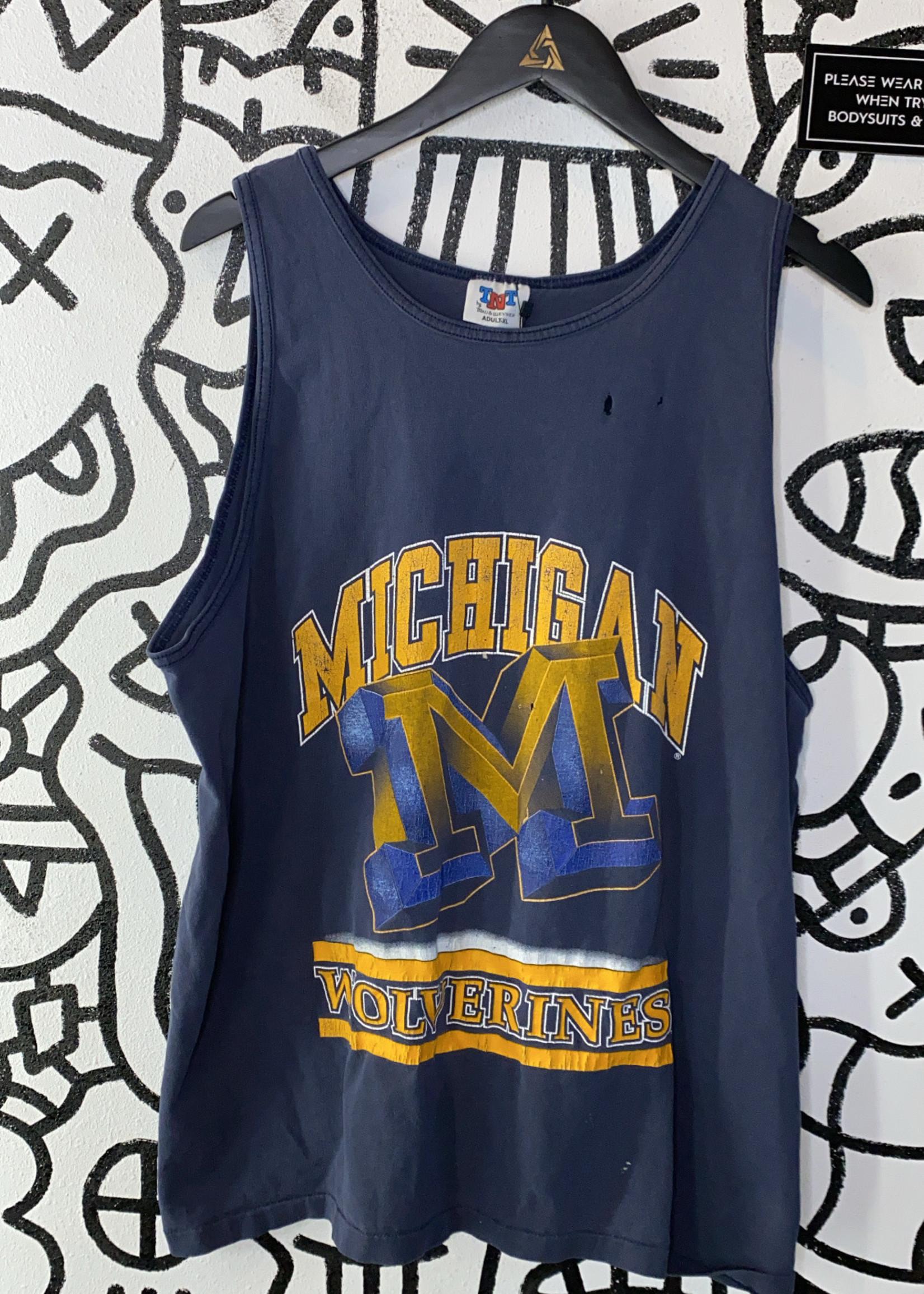 Michigan Wolverines Vintage Blue Tank XL