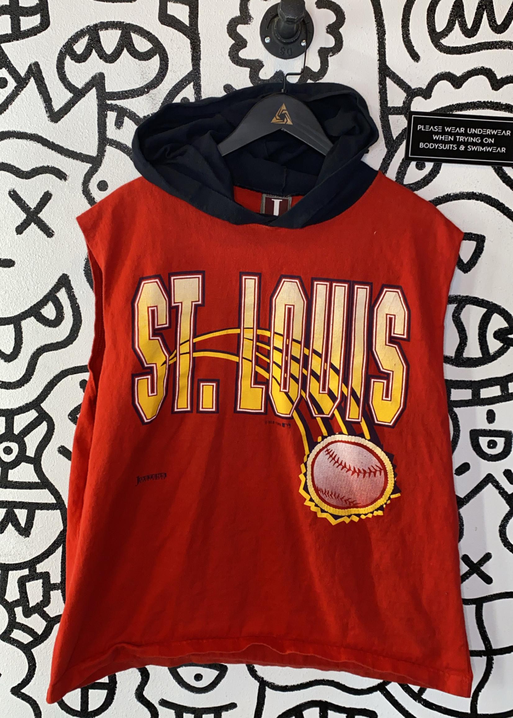 Vintage St Louis Red Baseball Hooded Tank L