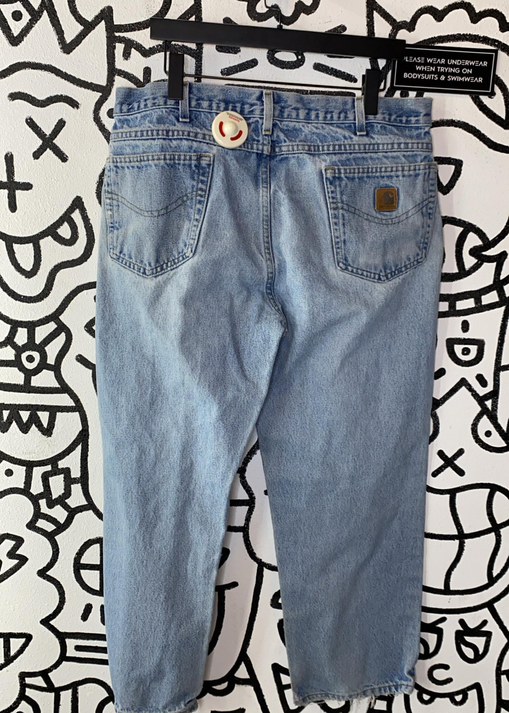 "Carhartt Distressed Light Wash Jeans 38"""