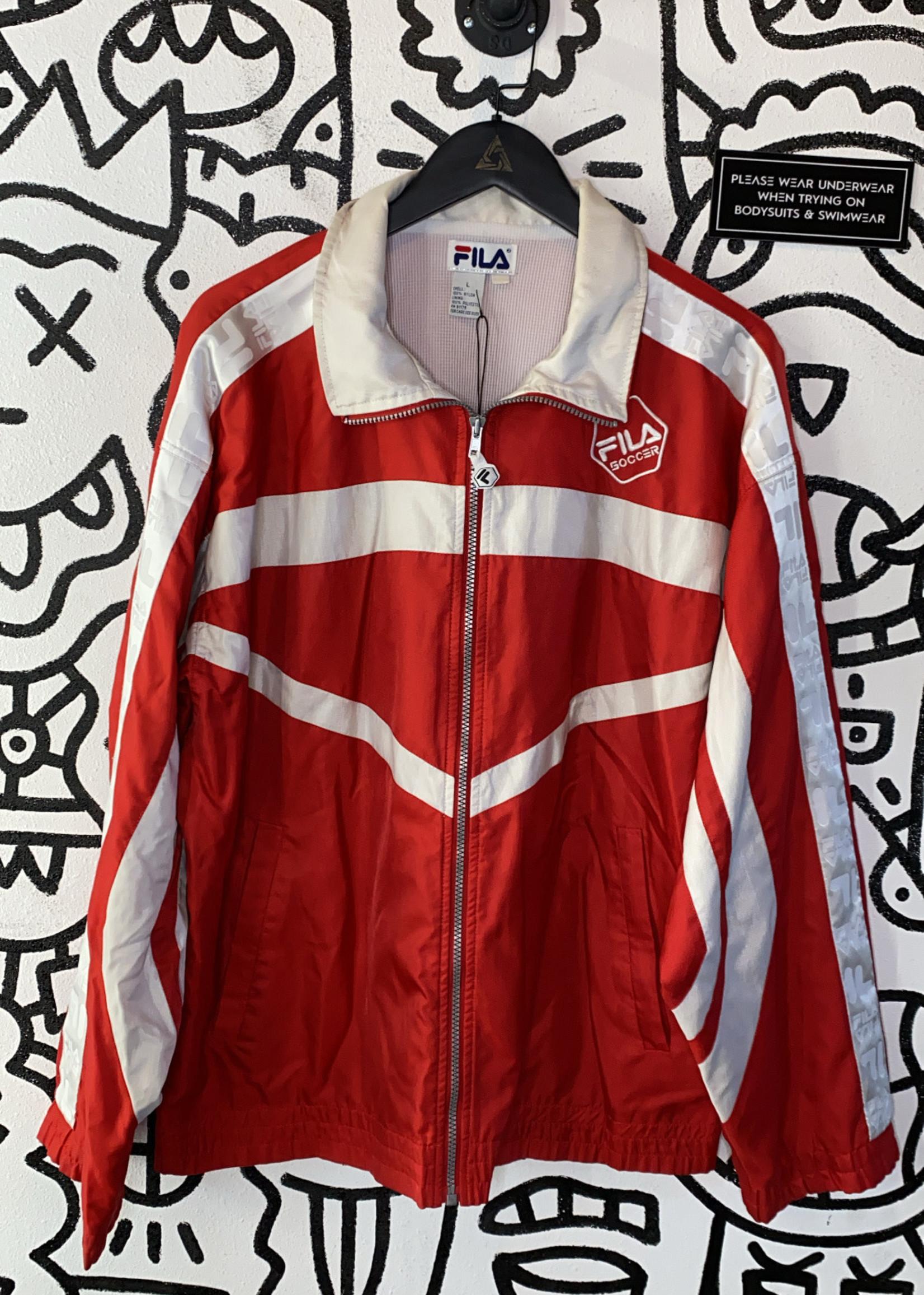 Vintage Fila Soccer Red Jacket L
