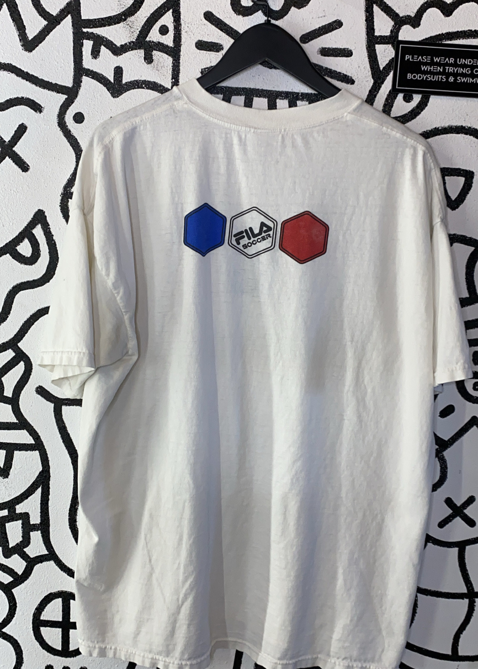 Fila World Cup France Vintage White Tee L