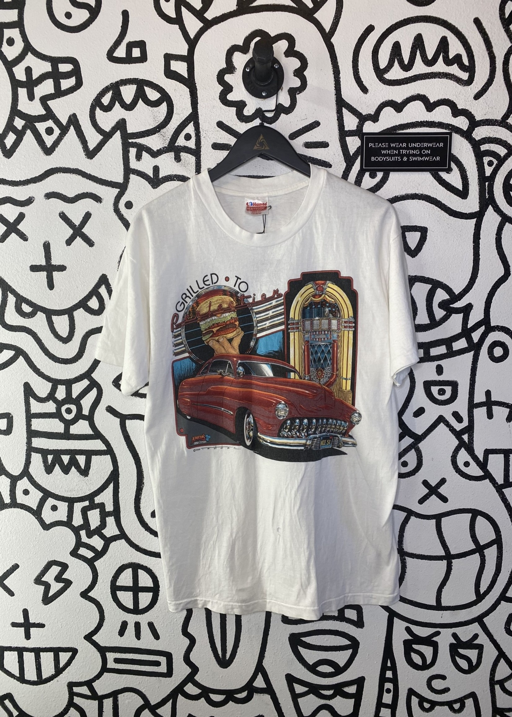Andy's Grilled to Perfection White Vintage '89 Tee XL