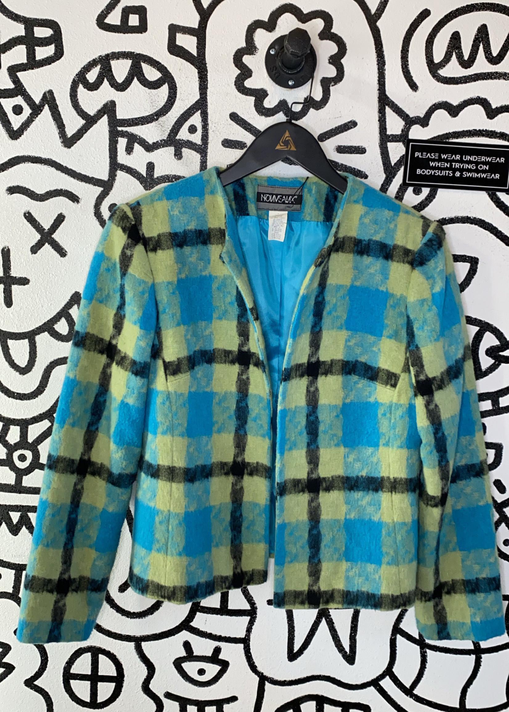 Vintage Nouveaux blue green jacket S