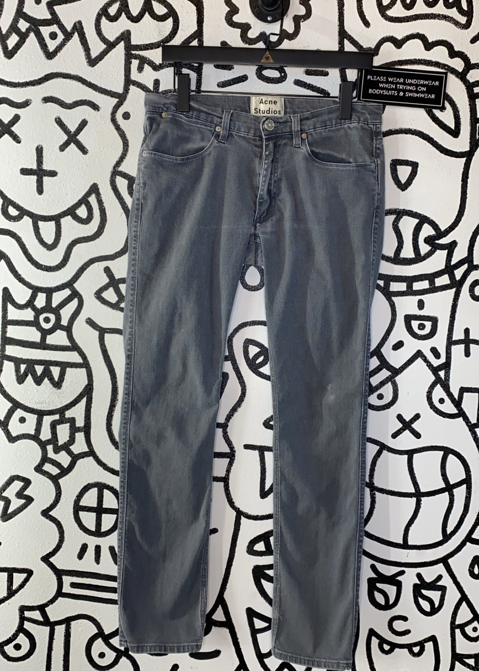 Acne Studio grey skinny jeans 32x32