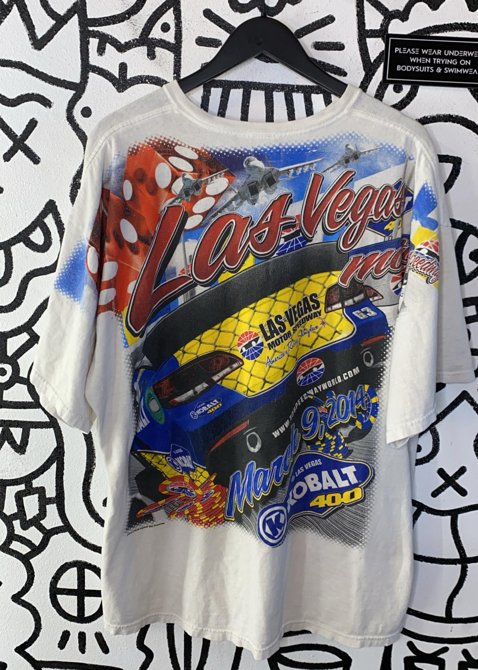 Las Vegas Motor Speedway White All Over Print Tee XL