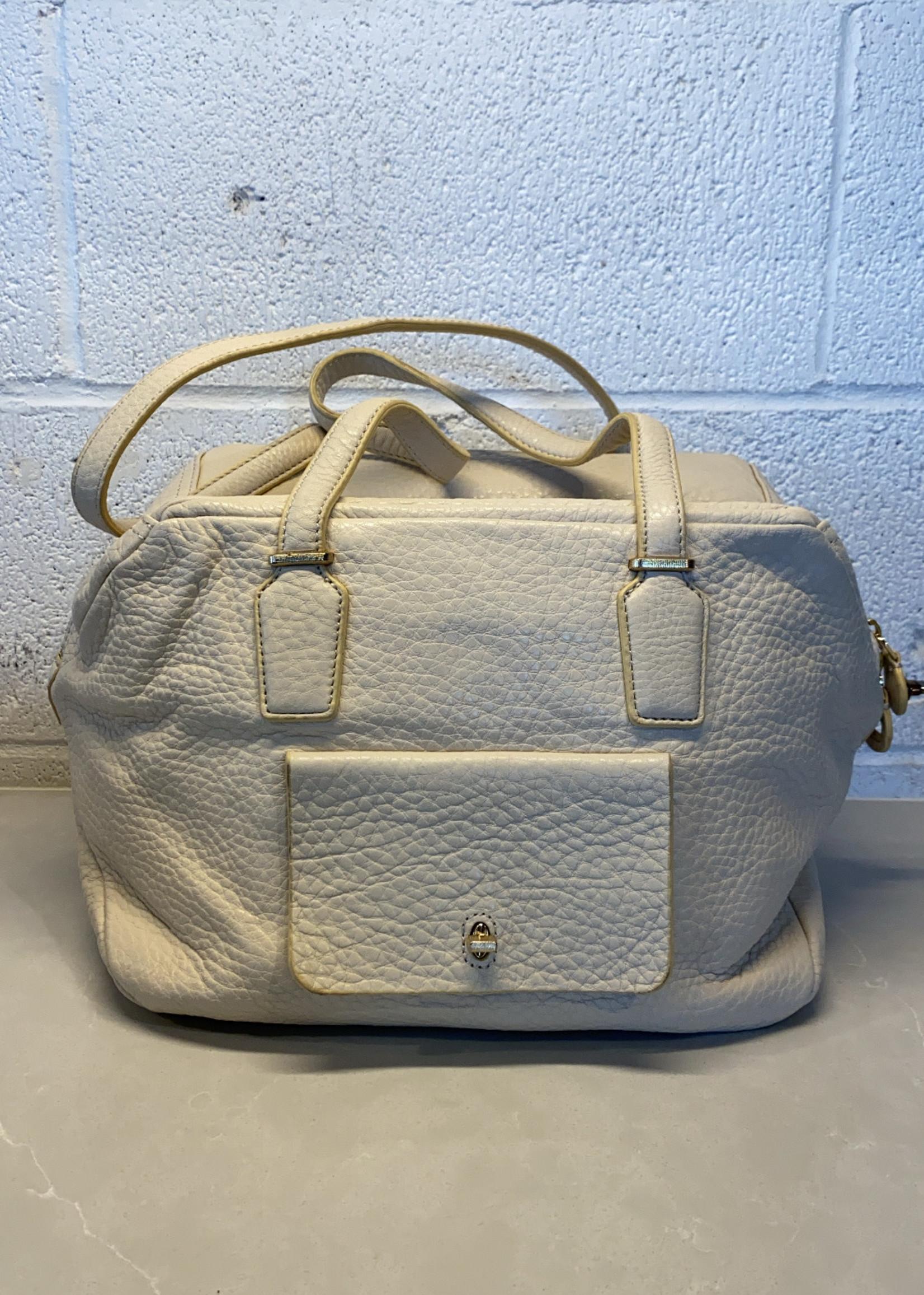 Etienne Agner Ivory Leather Handbag