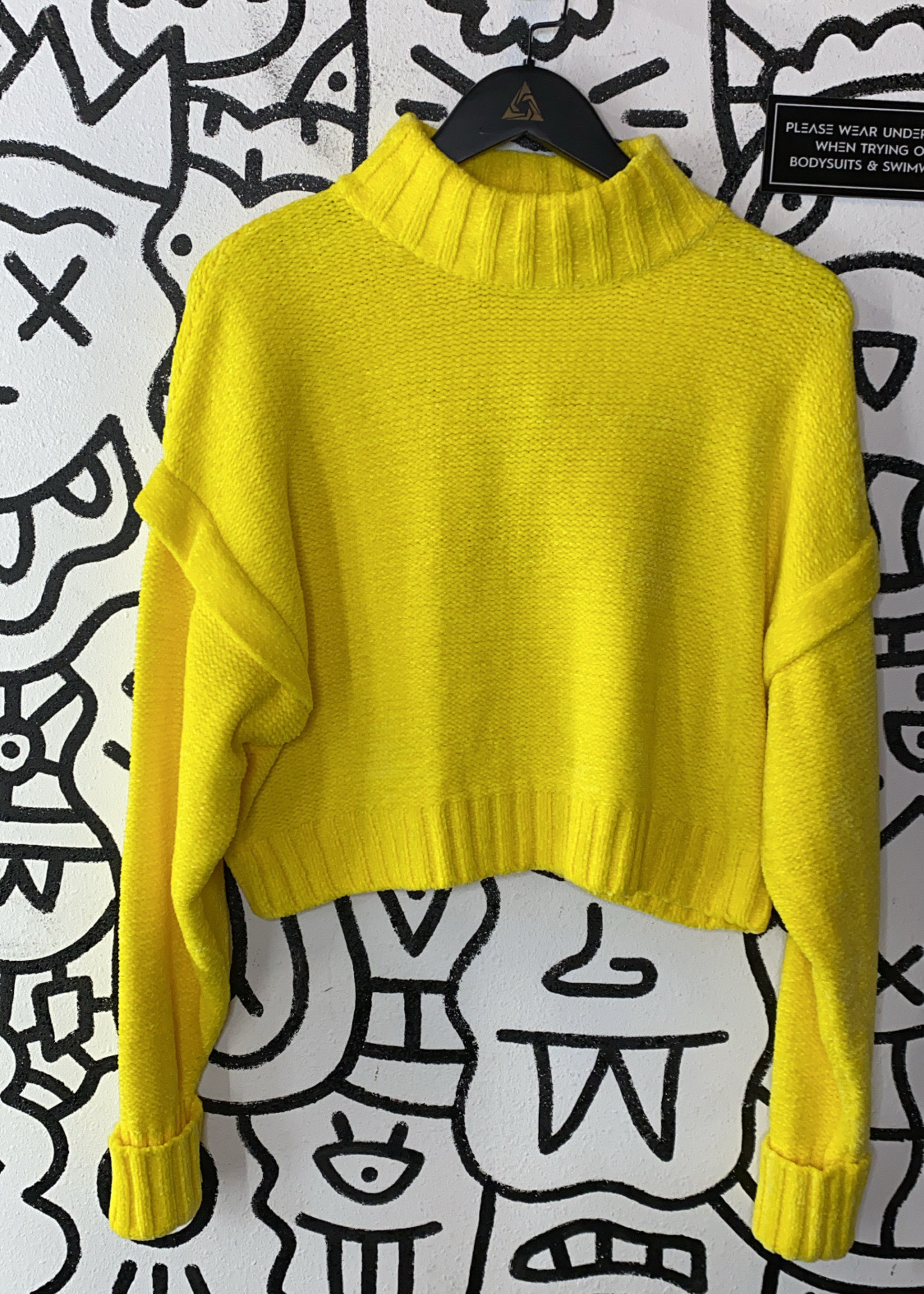 NWT Urban Outfitters Yellow Crop Sweater M