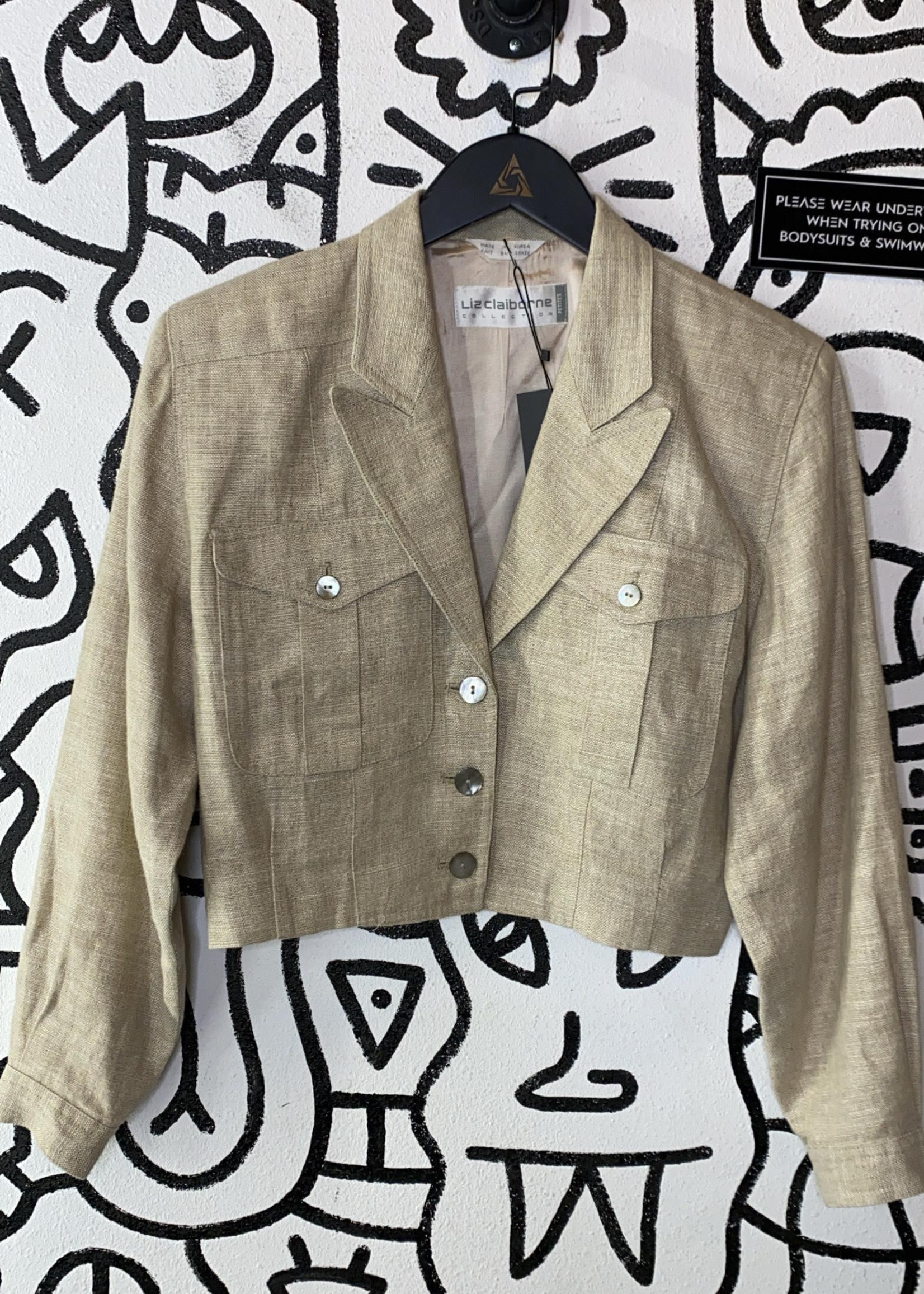 Liz Claiborne beige crop  jacket M