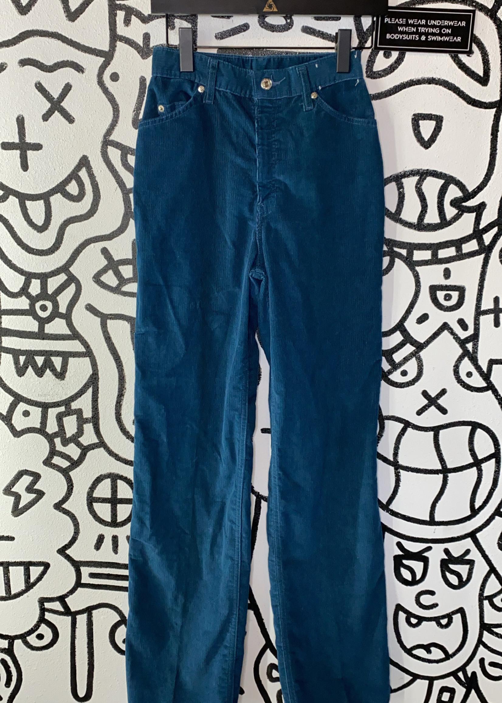 "Vintage Levi's Turquoise Corduroy Pants 25"""