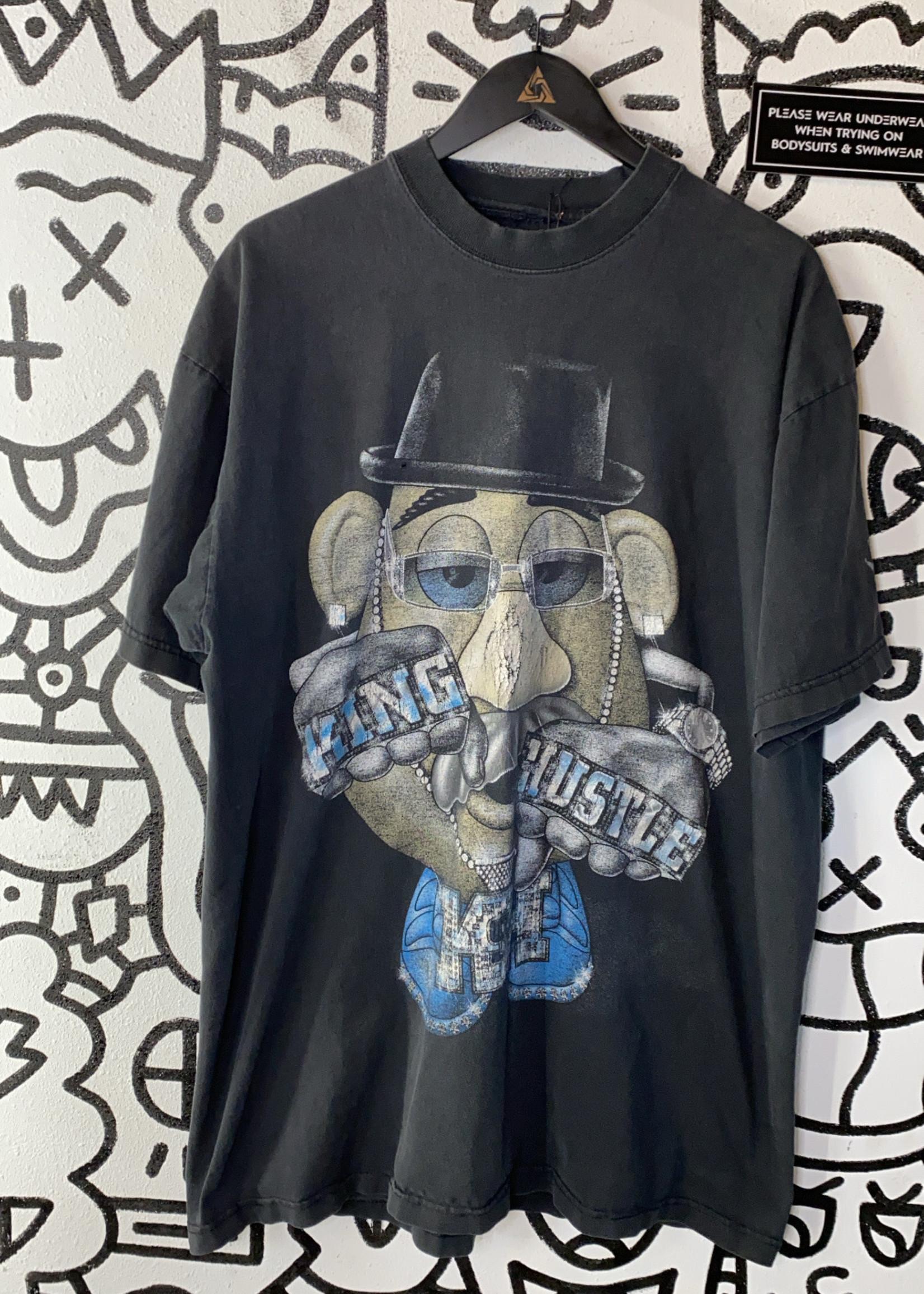 King Hustle Mr. Potato Head Black Tee XXL As Is