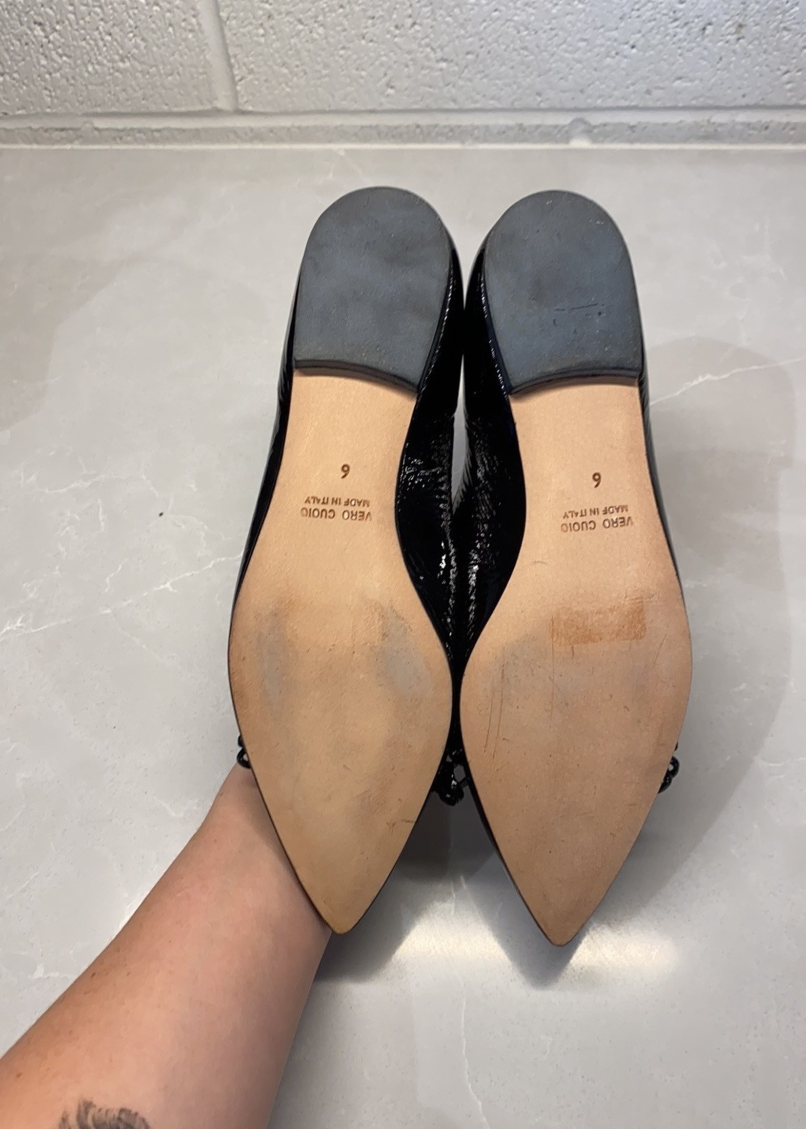 Butter Black Pointed Toe Flats 6 (Retail: $145)