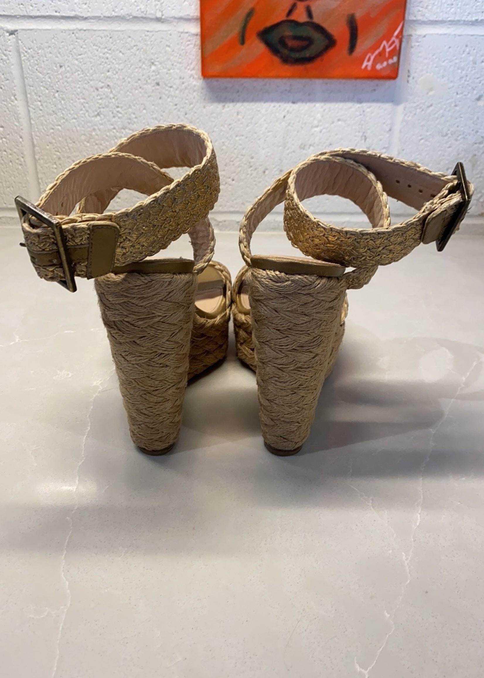 Stuart Weitzman Alex Crochet Wedge Sandals