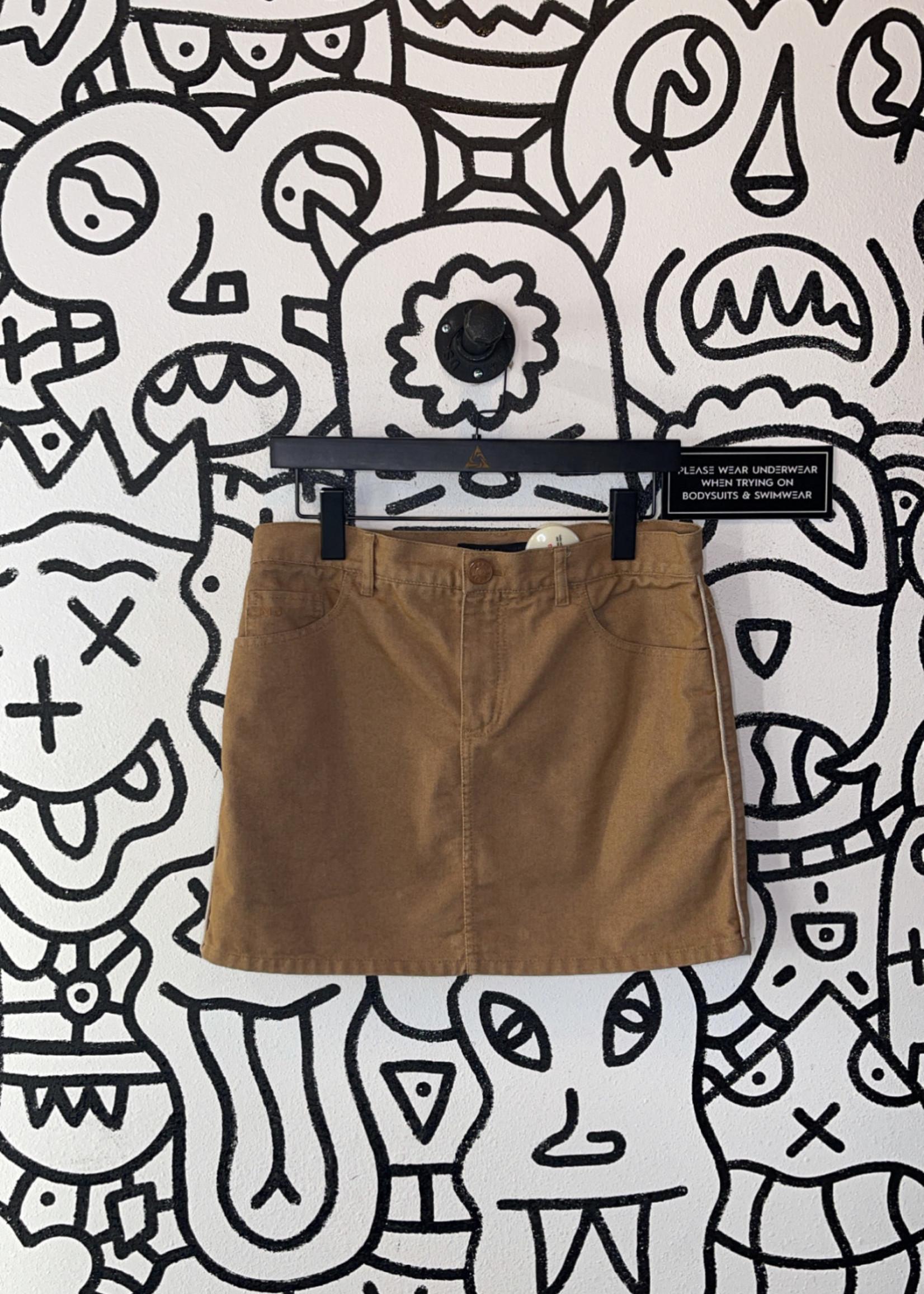 Marc Jacobs brown denim skirt 8