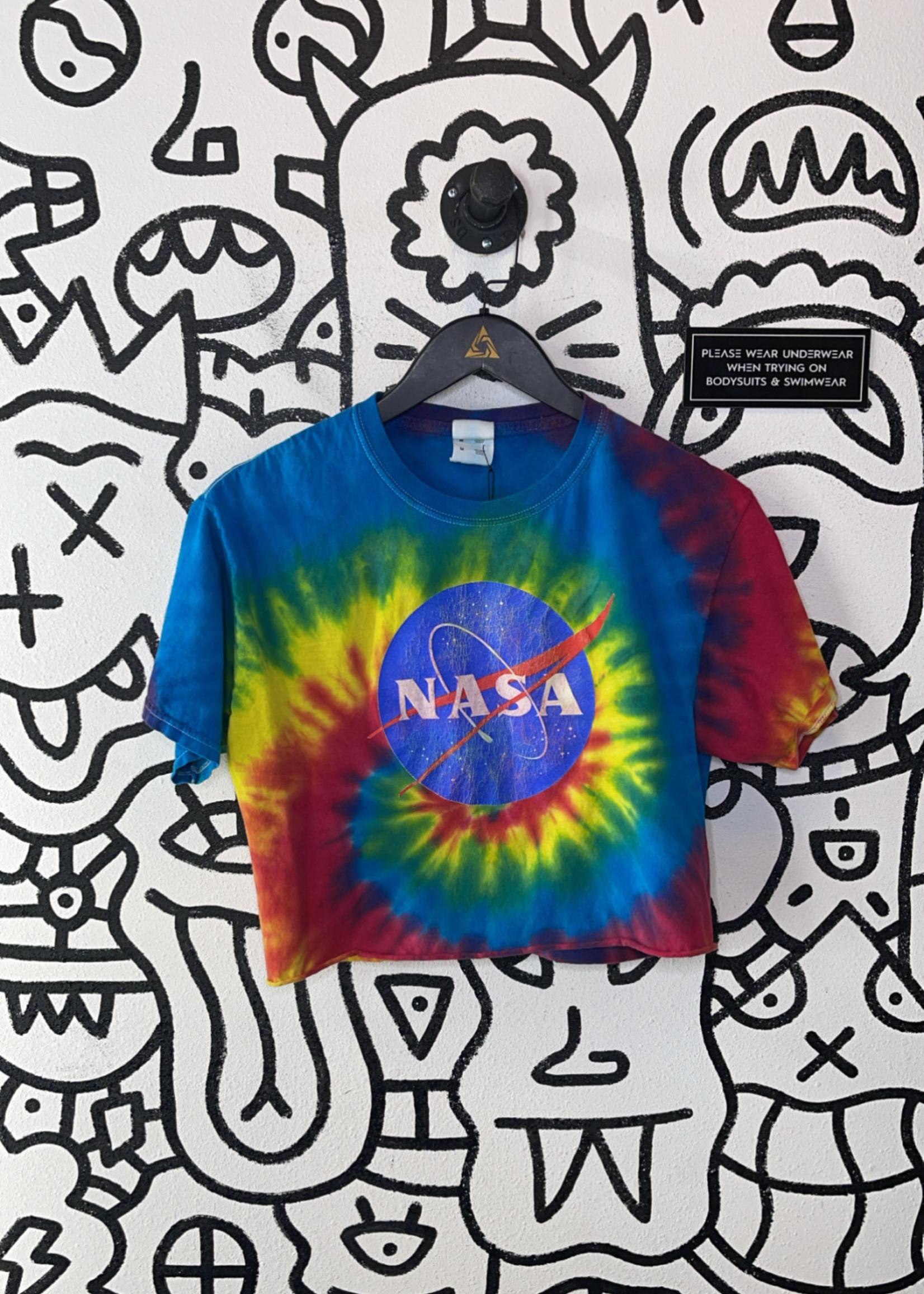 Tie dye NASA Cropped Shirt M