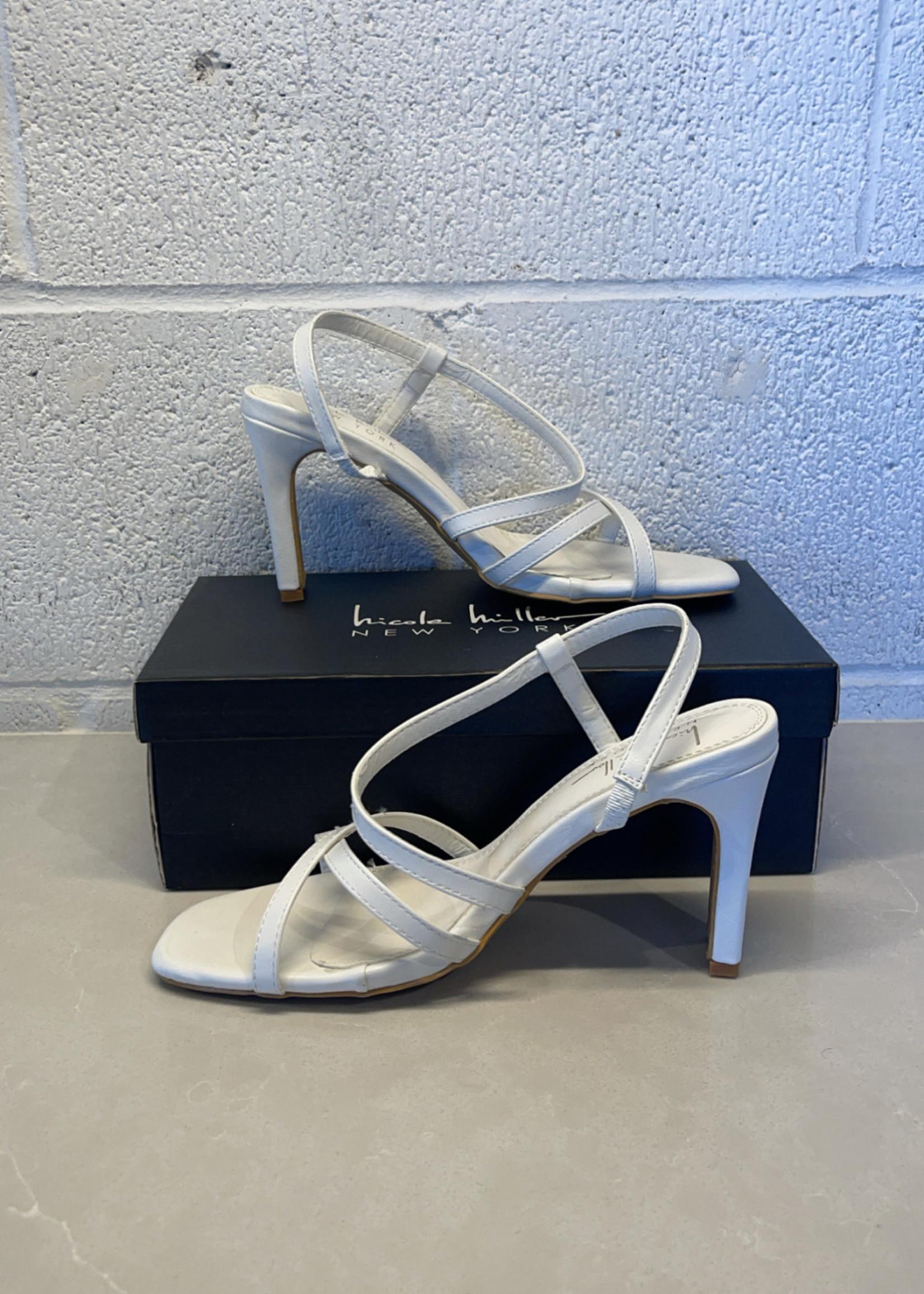 Nicole miller reima white strappy heels 7.5