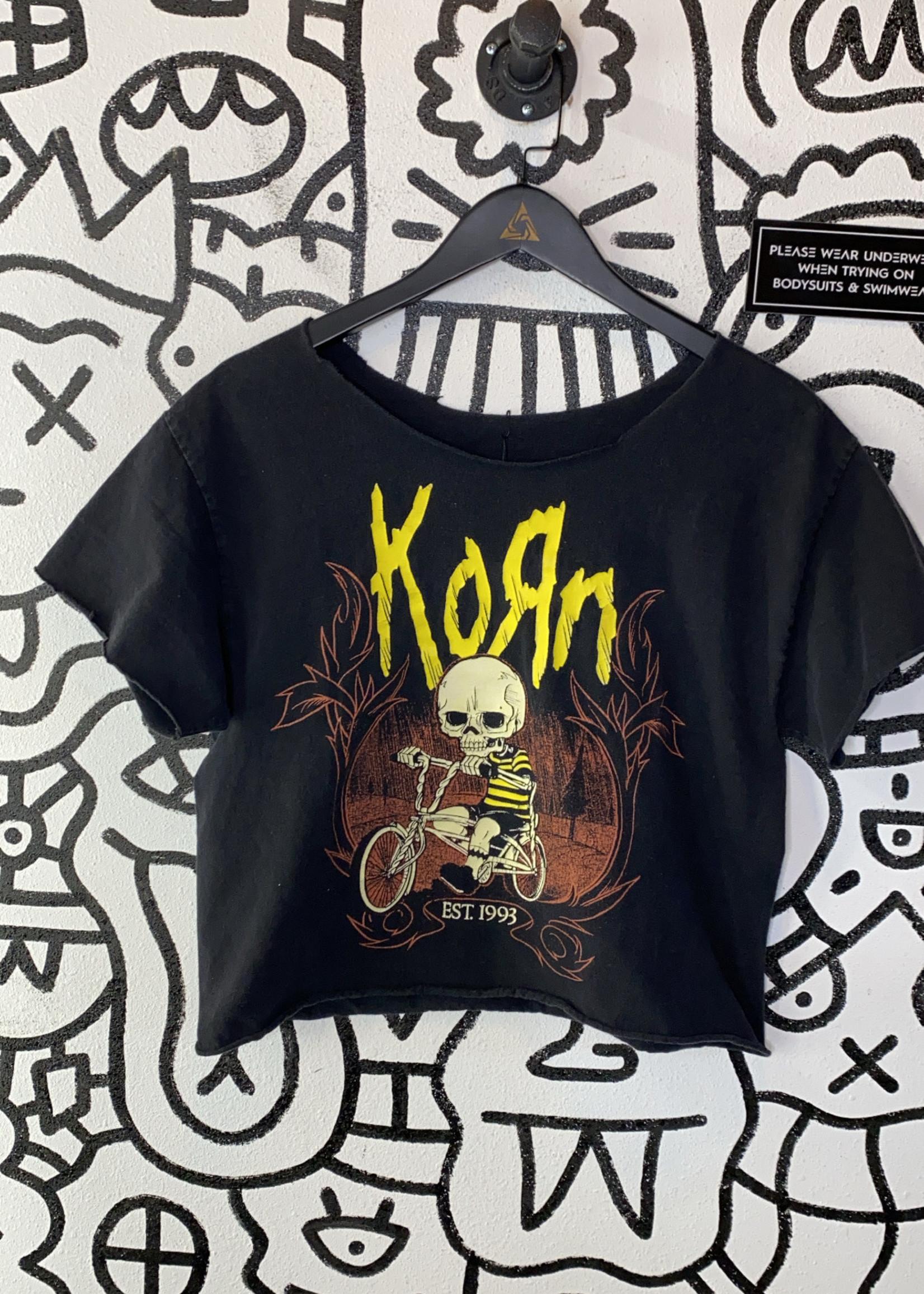 Korn Black Crop Tee M