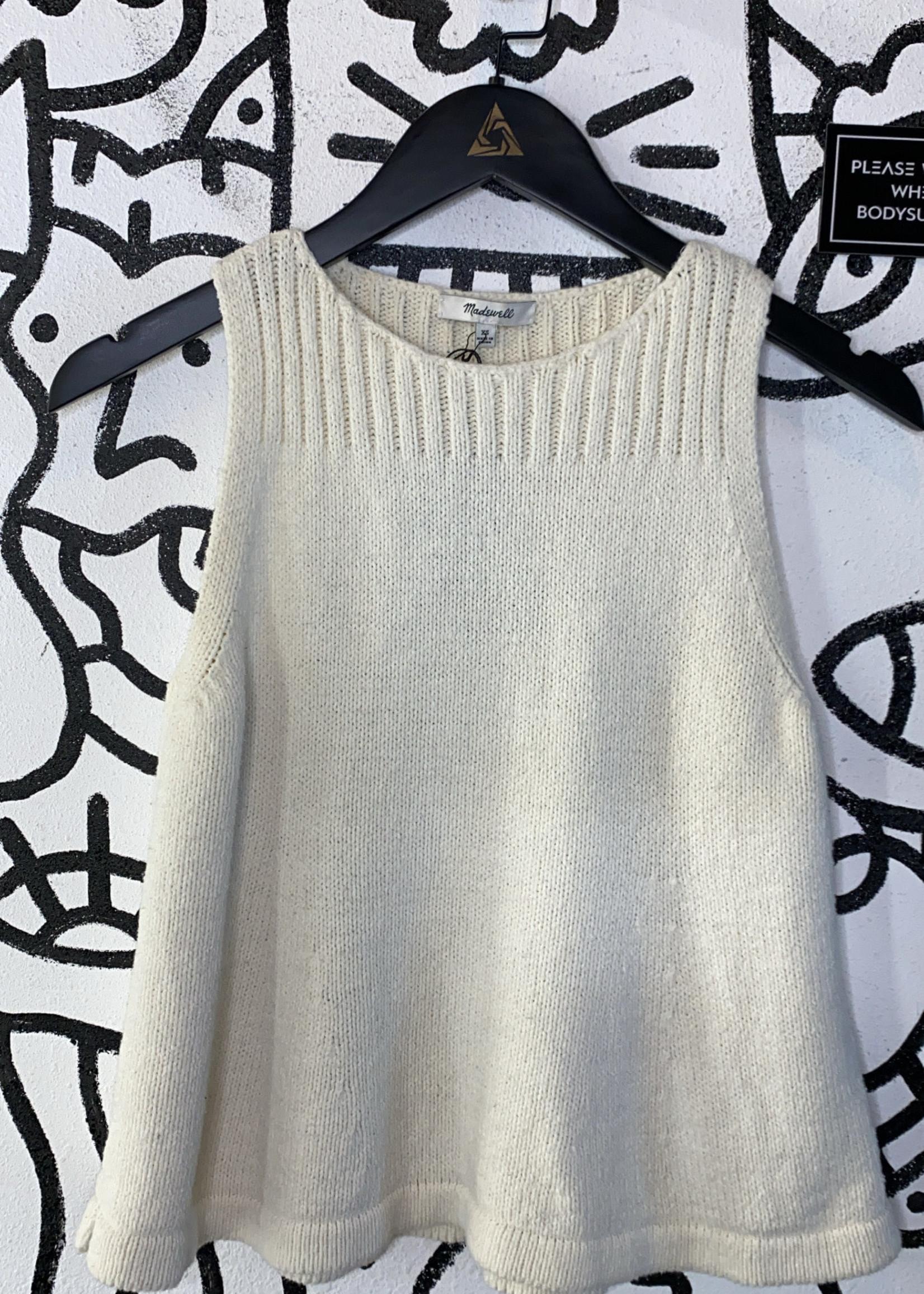 Madewell off white crochet sleeveless top XS