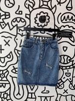 Vintage stiletto Denim Pencil skirt 26