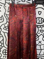 La Chine classic red paisley long skirt S