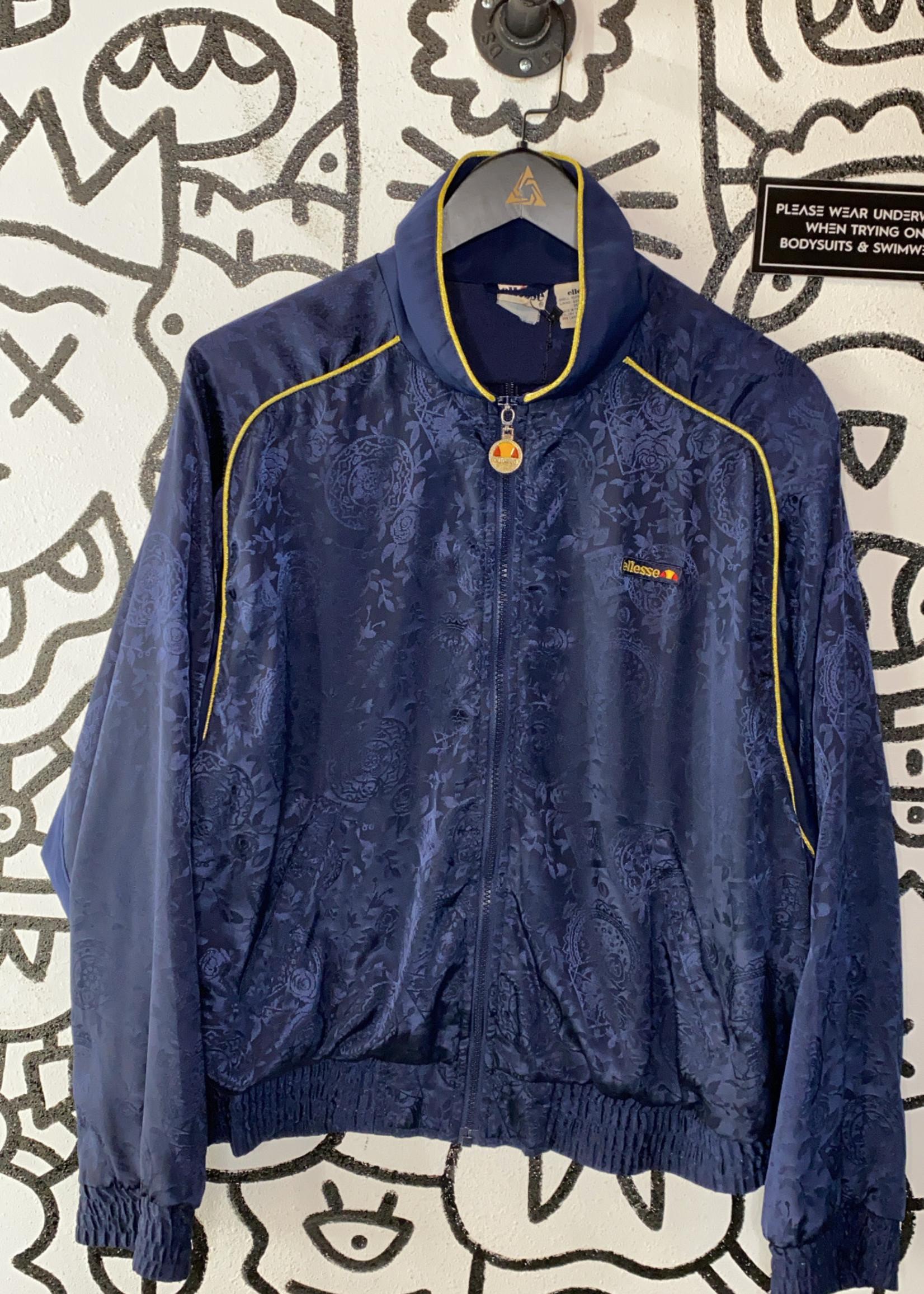 Vintage '90s Ellesse Blue Silk Jacket Women's L