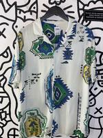 Zara Blue/Teal Button Down Dress M
