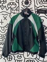 Vintage Reebok White Black '80s Track Jacket L
