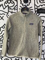 Patagonia Heather Grey 1/4 Zip Sweater S