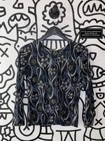 Vintage Creazioni effect blue floral shirt S