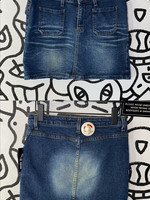 "Vintage '90s BDG Worn Denim Skirt 28"" S"