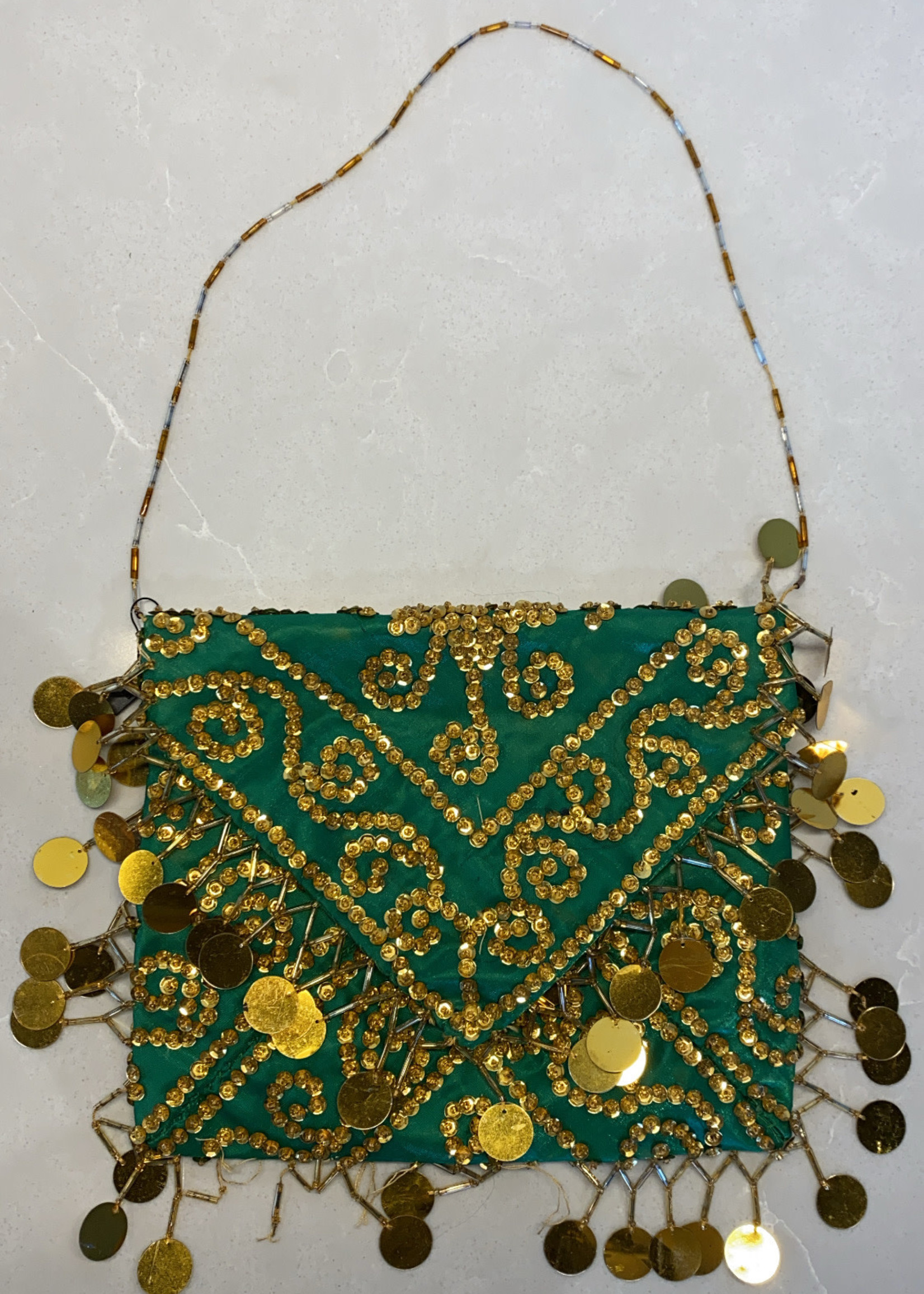 Green/Gold Sequin Purse