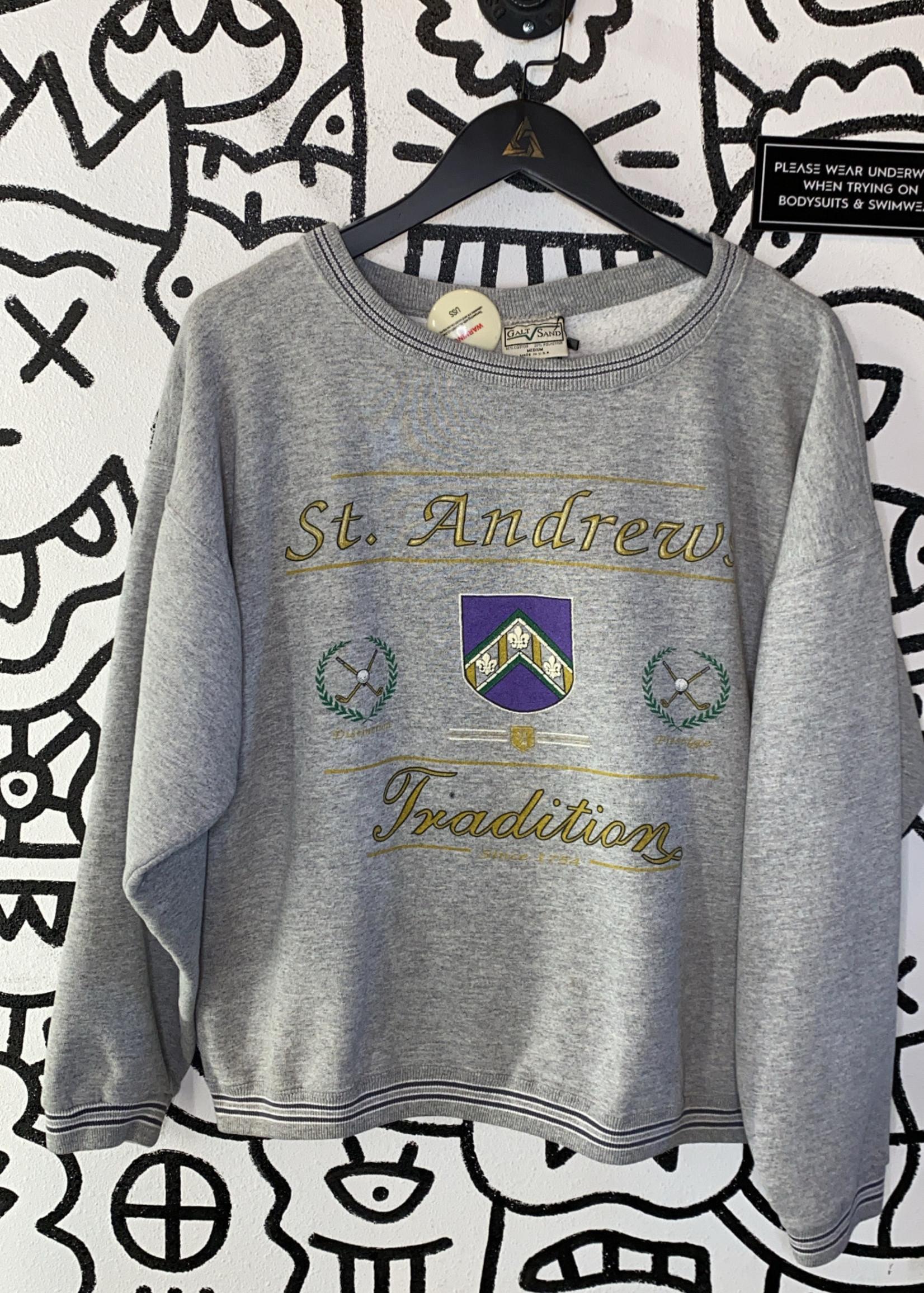 Vintage St. Andrews Grey Crewneck M