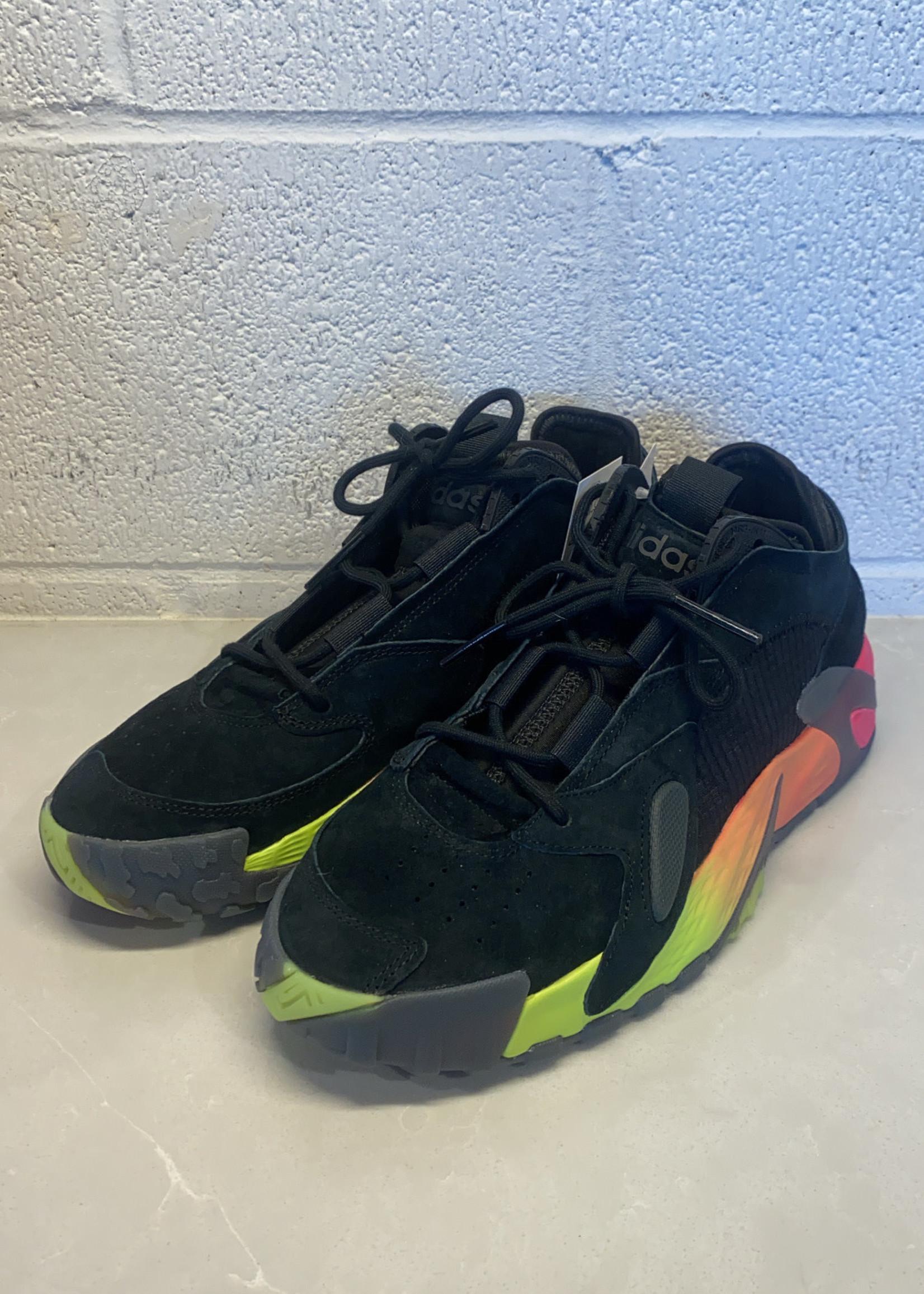 NWT Adidas Streeball Black Rainbow Sneakers 9