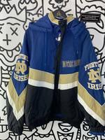 Vintage Notre Dame Blue Black Bomber Jacket XXL