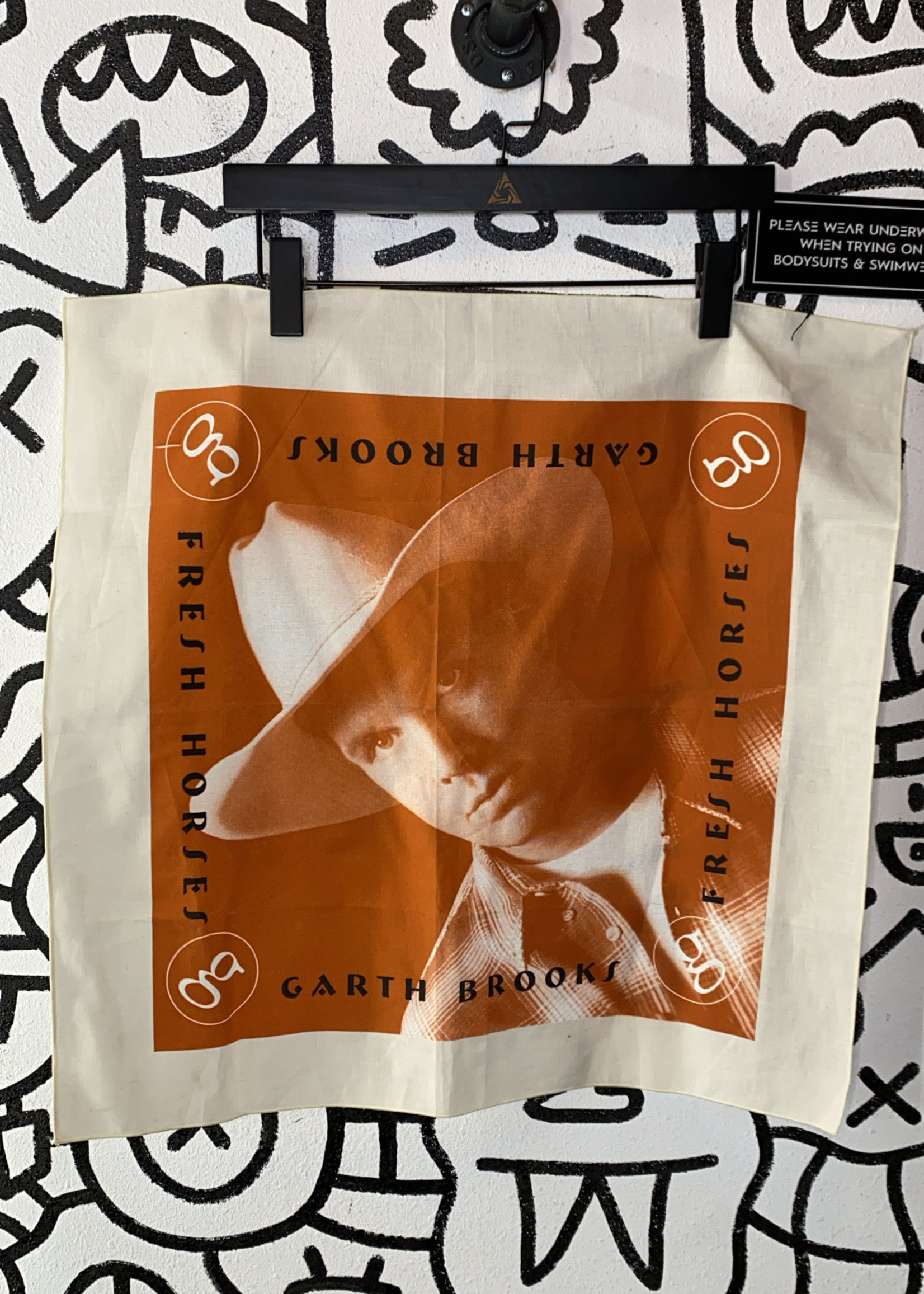 Vintage Garth Brooks Fresh Horses Bandana OS