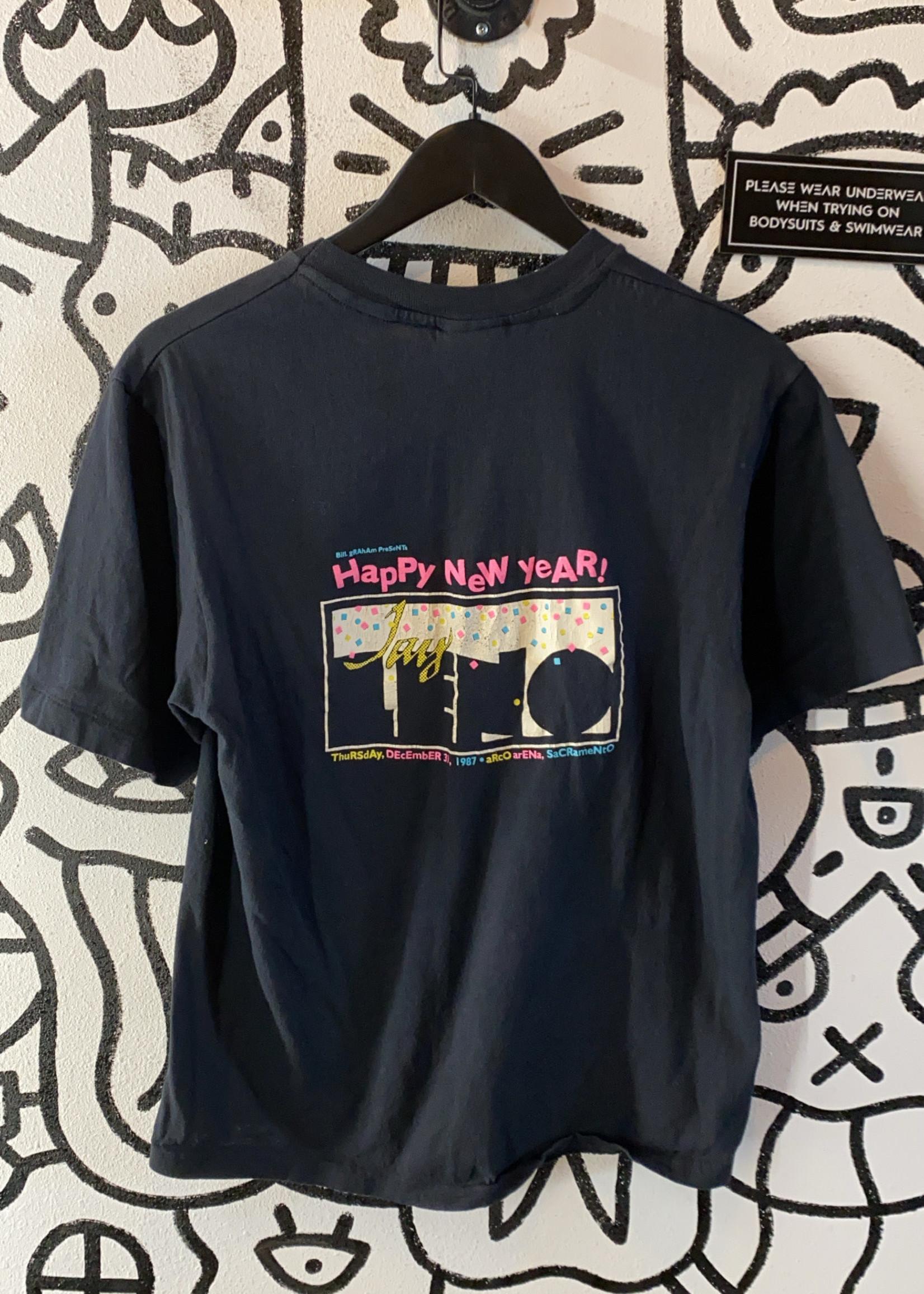 Vintage 1987 RARE Black Motor Jay Leno Cycles shirt L