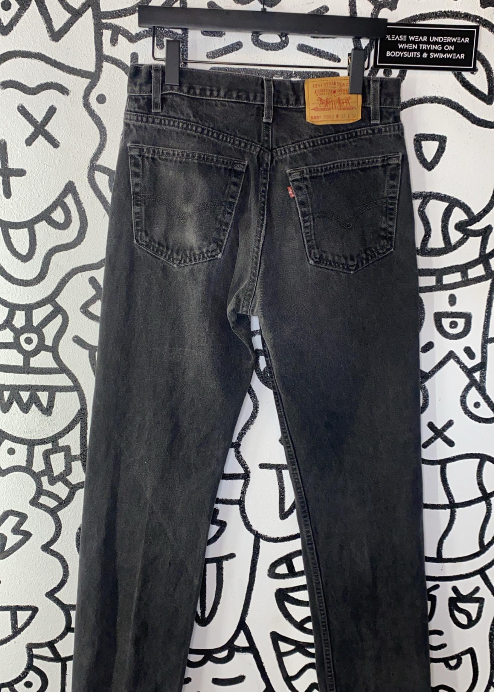 Vintage black levis 90s denim jeans 32 505