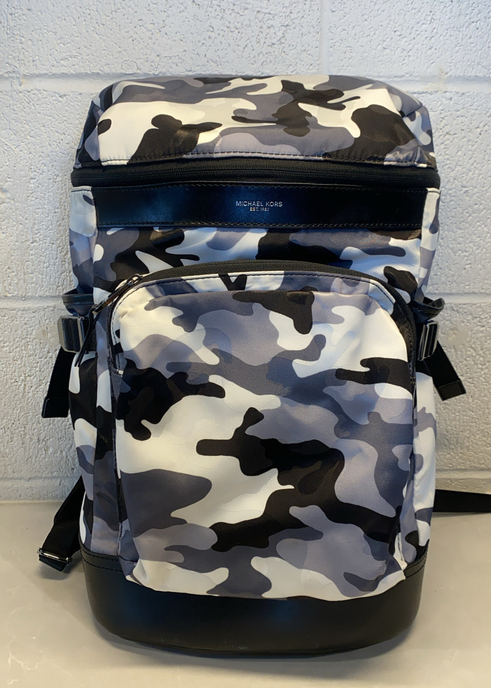 Michael Kors black and white camo print backpack (Retail: $200+)