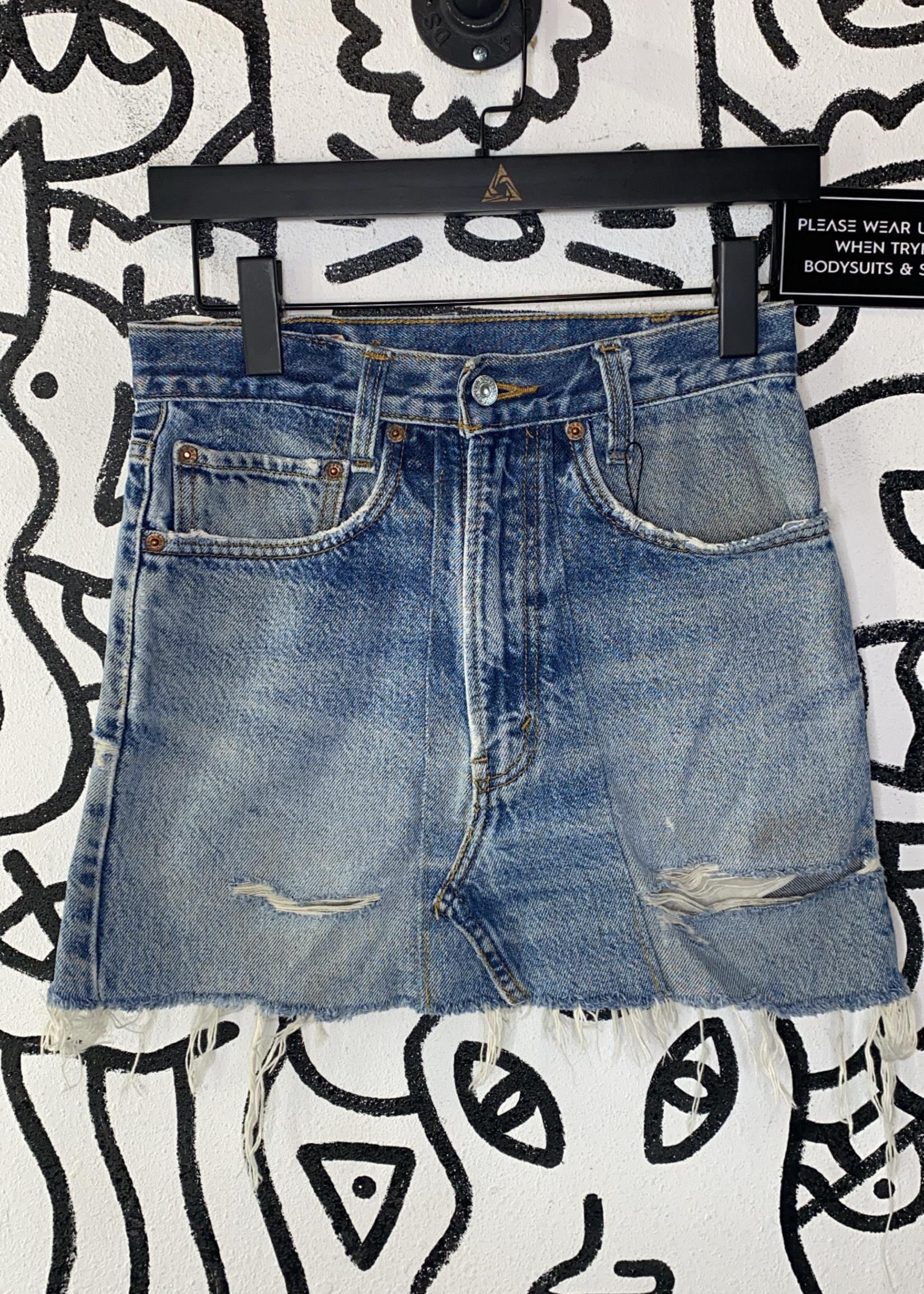 "Vintage Levi's Reworked Denim Skirt 26"" XS"